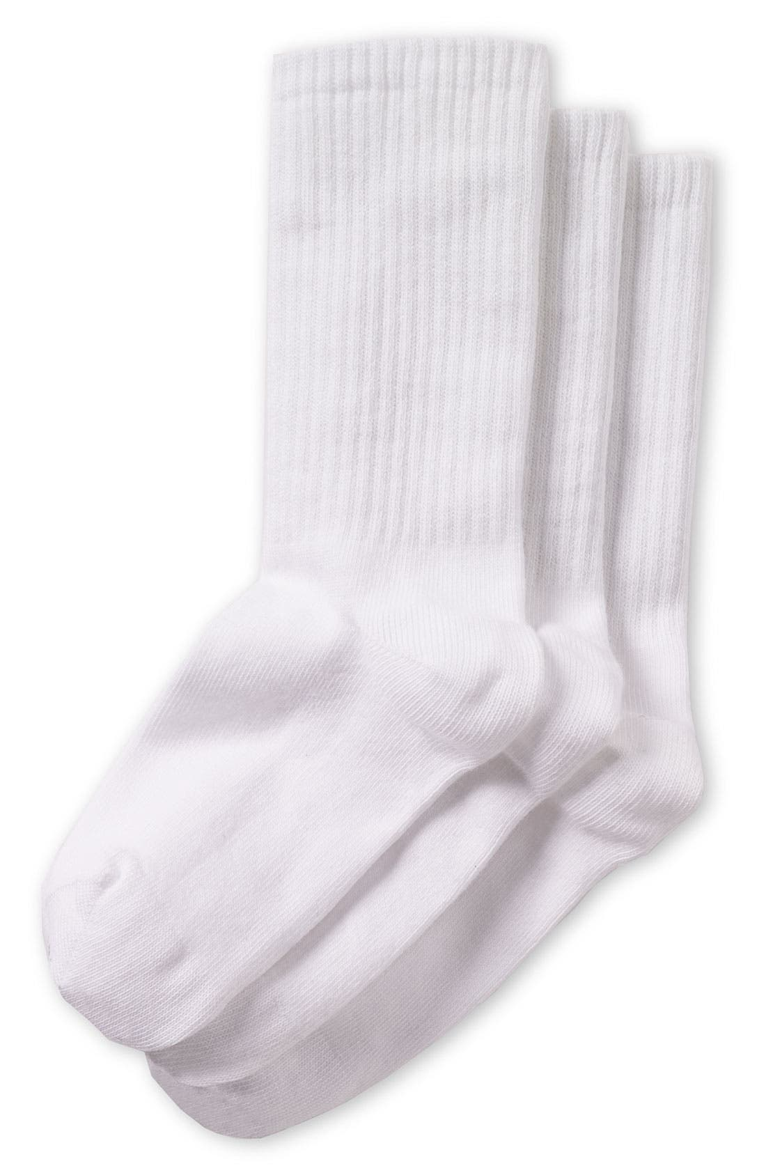 Alternate Image 1 Selected - Nordstrom Cotton Blend Crew Socks (3-Pack) (Toddler, Little Boys & Big Boys)