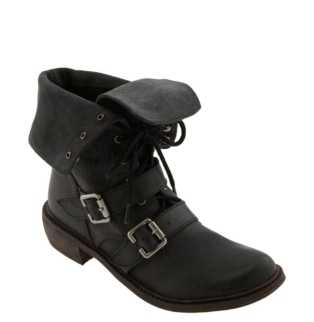 Main Image - Trouvé 'Sabrina' Distressed Leather Ankle Boot