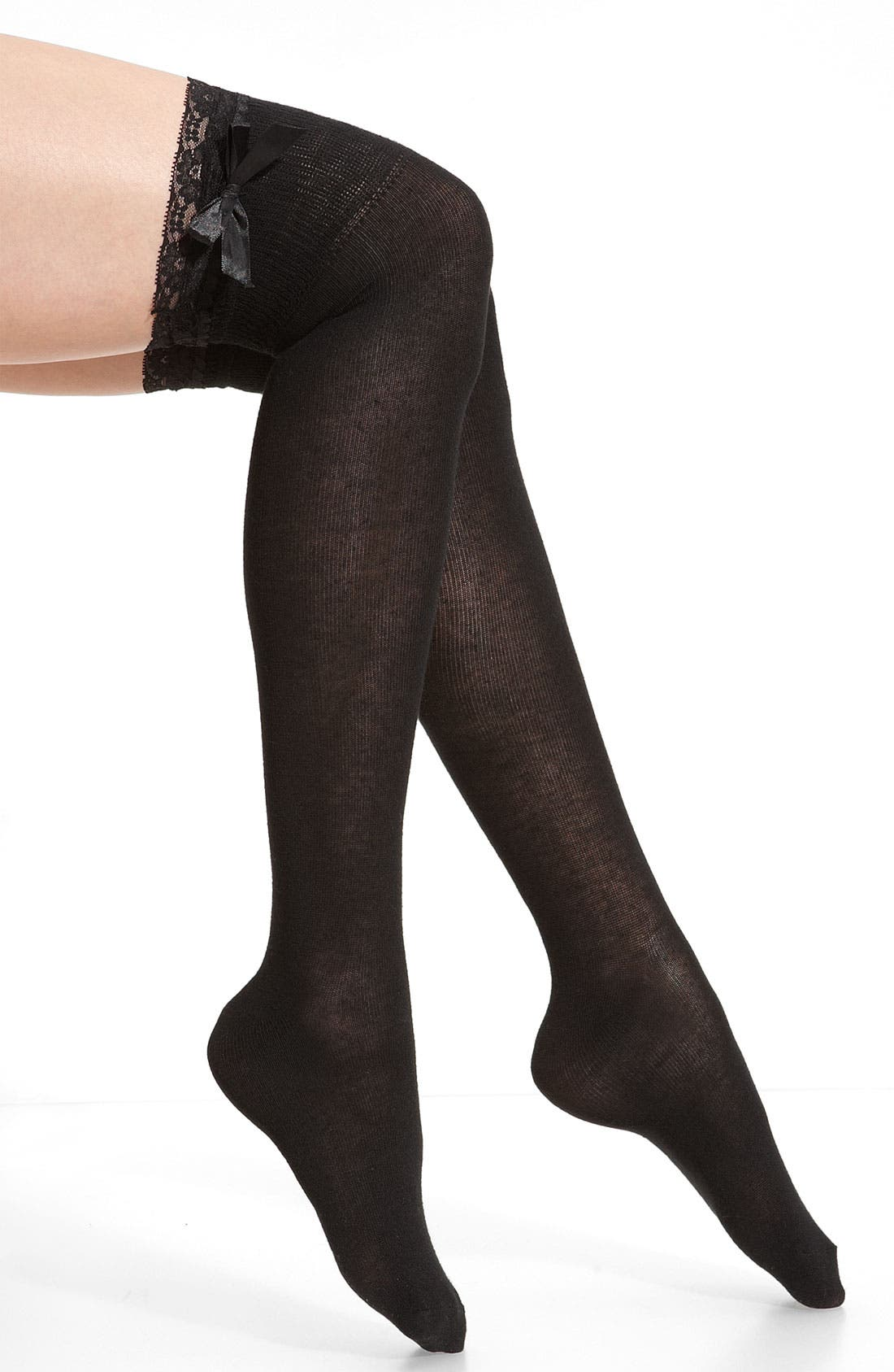 Alternate Image 1 Selected - Nordstrom 'Ribbon Lace' Over the Knee Socks