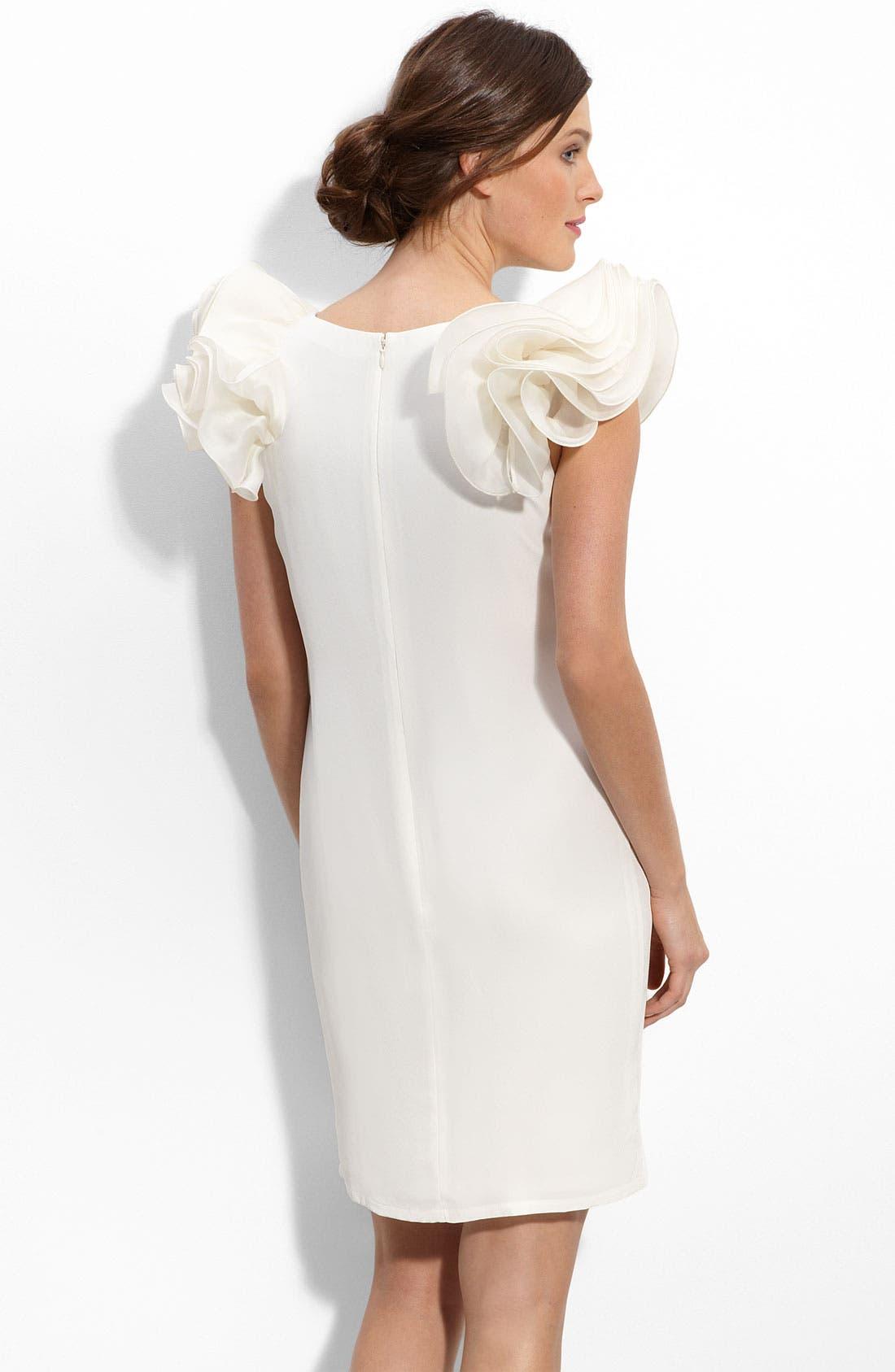 Alternate Image 2  - Eliza J Ruffle Sleeve Shift Dress