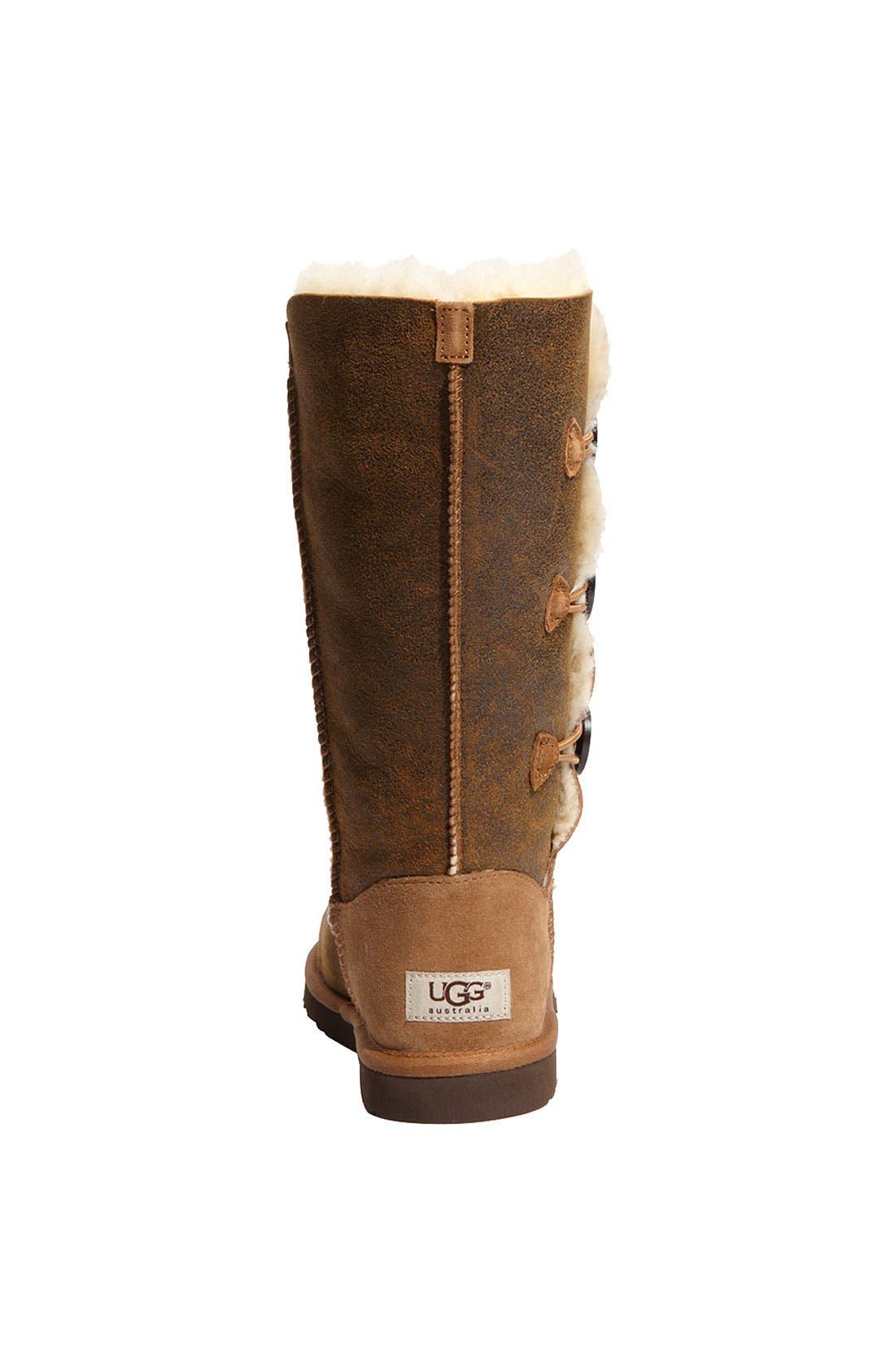 Alternate Image 4  - UGG® Australia 'Bailey Button Triplet' Boot (Bomber) (Women)