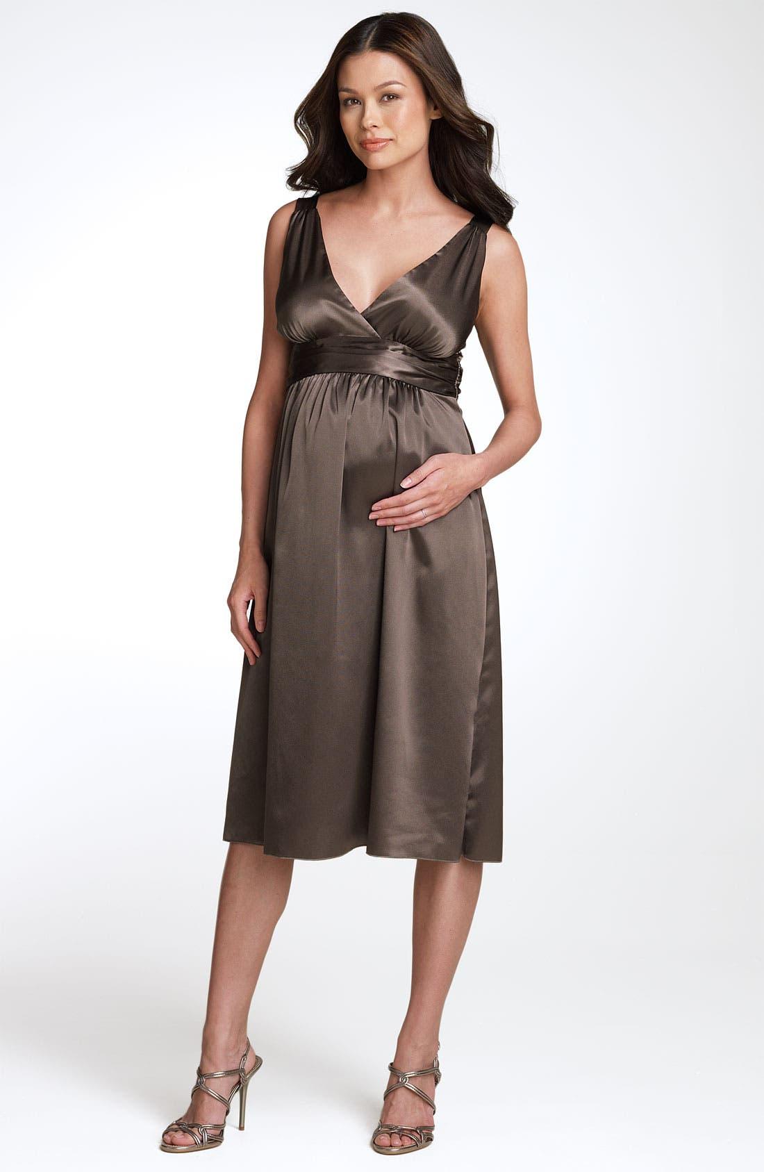 Alternate Image 1 Selected - Ripe Maternity 'Deluxe' Satin Dress