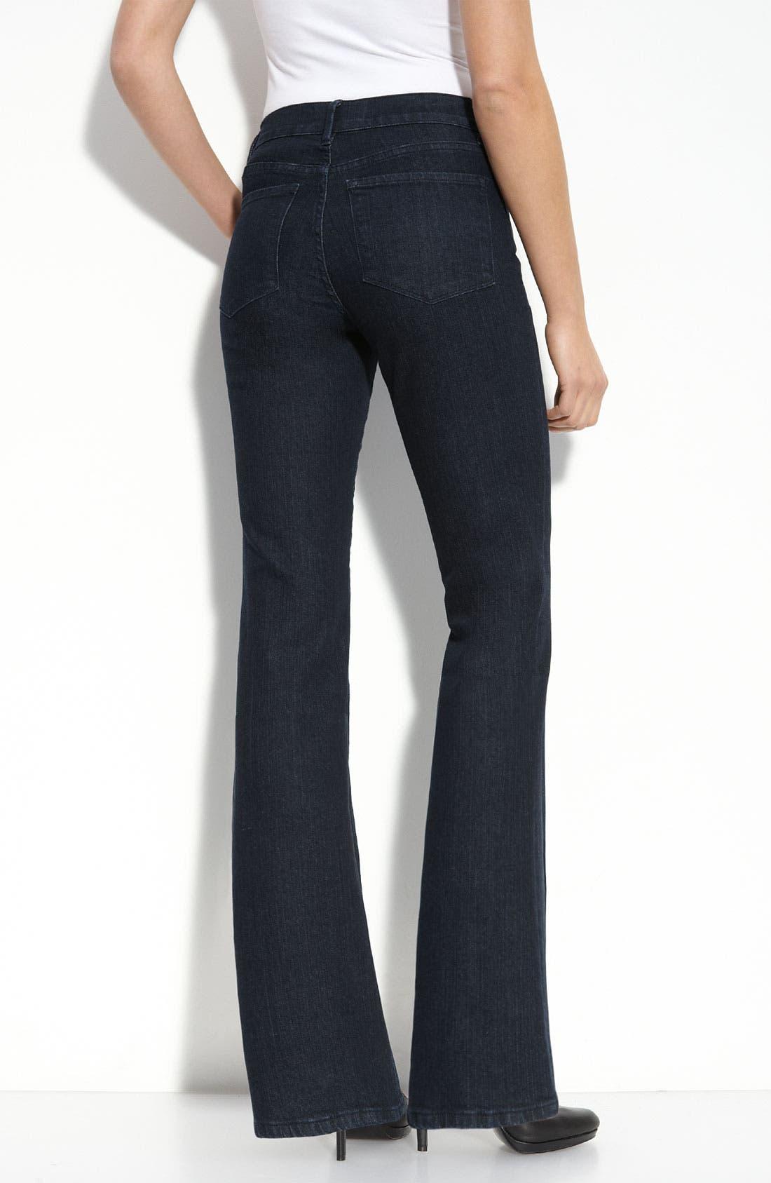 Flare Leg Stretch Jeans,                         Main,                         color, Blue/ Black