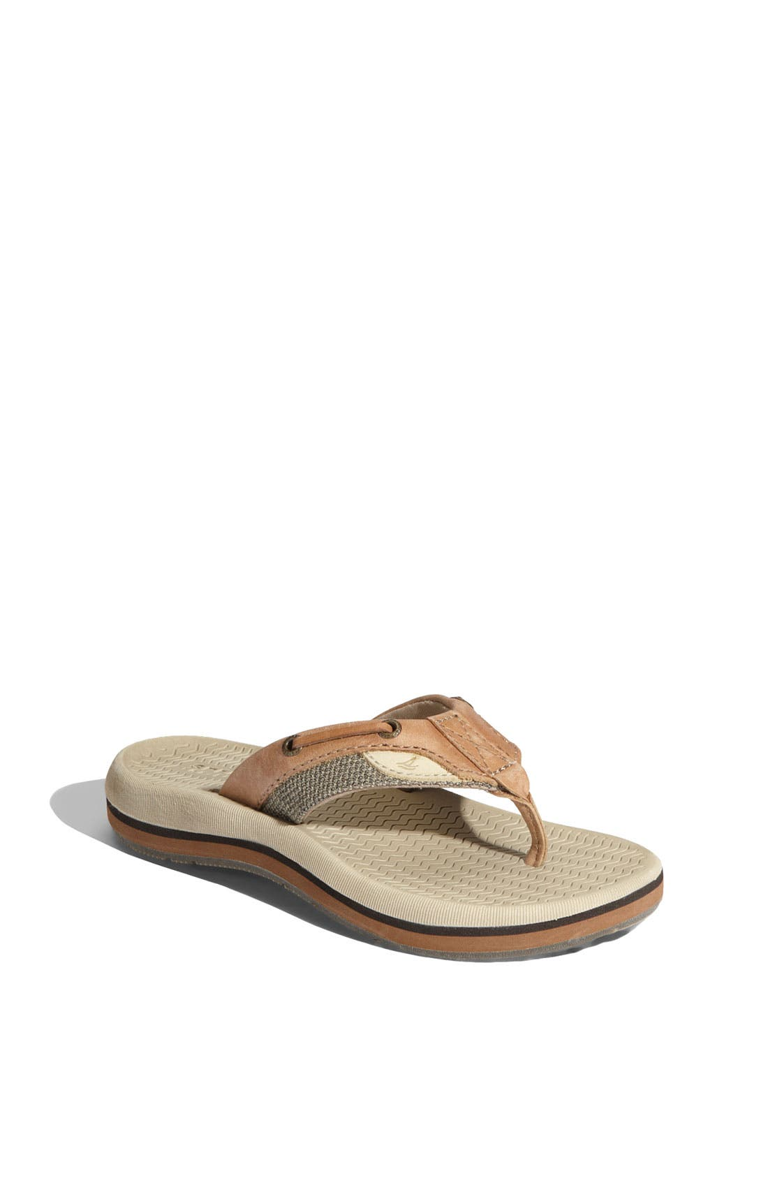 Alternate Image 1 Selected - Sperry Top-Sider® Kids 'Bluefish' Thong Sandal (Little Kid & Big Kid)