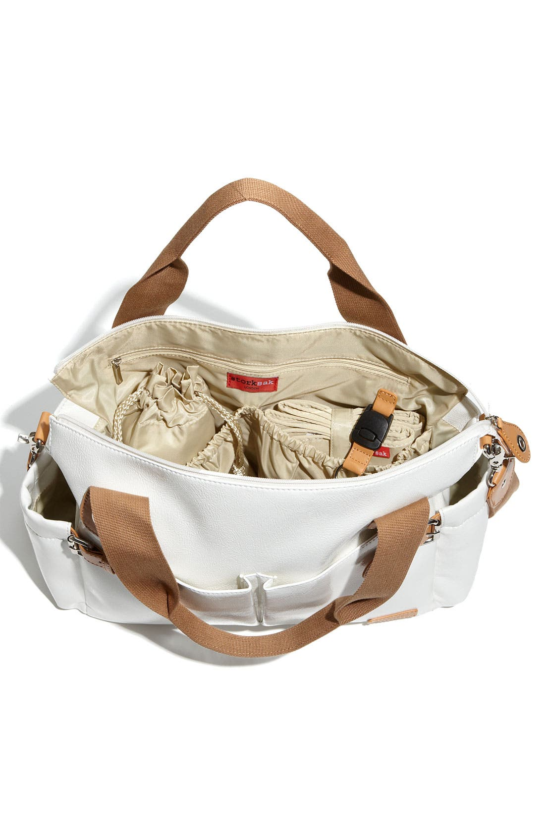 Alternate Image 4  - Storksak 'Kate' Patent Diaper Bag