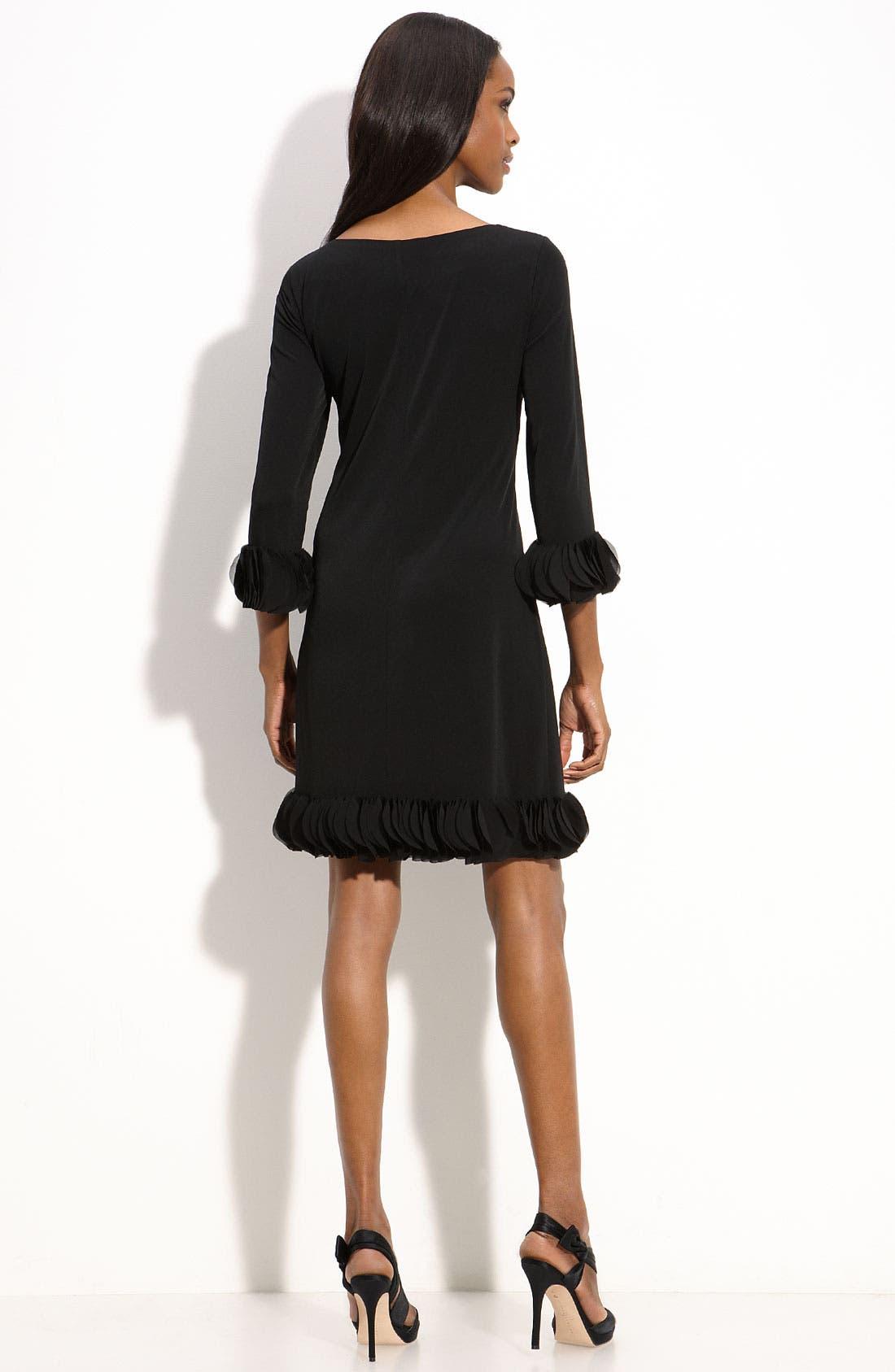 Alternate Image 2  - Donna Morgan Chiffon Trim Jersey Sheath Dress