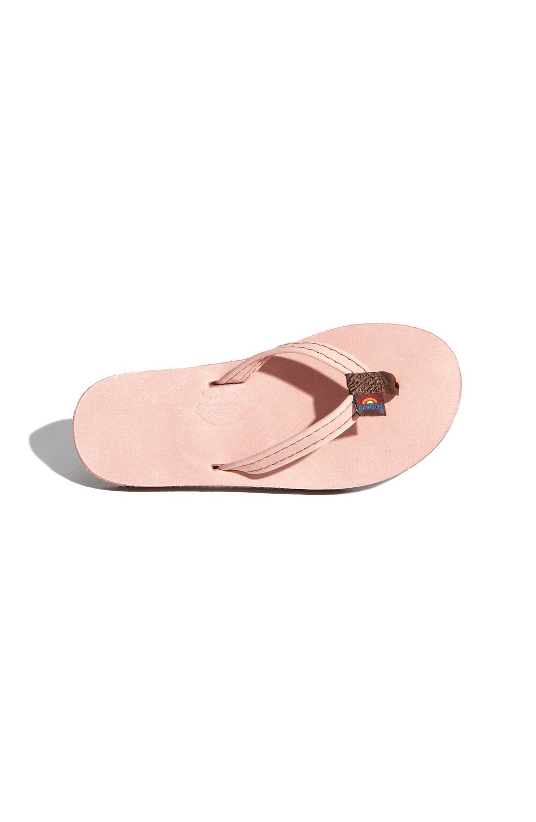 Alternate Image 3  - Rainbow Leather Flip Flop (Toddler, Little Kid & Big Kid)