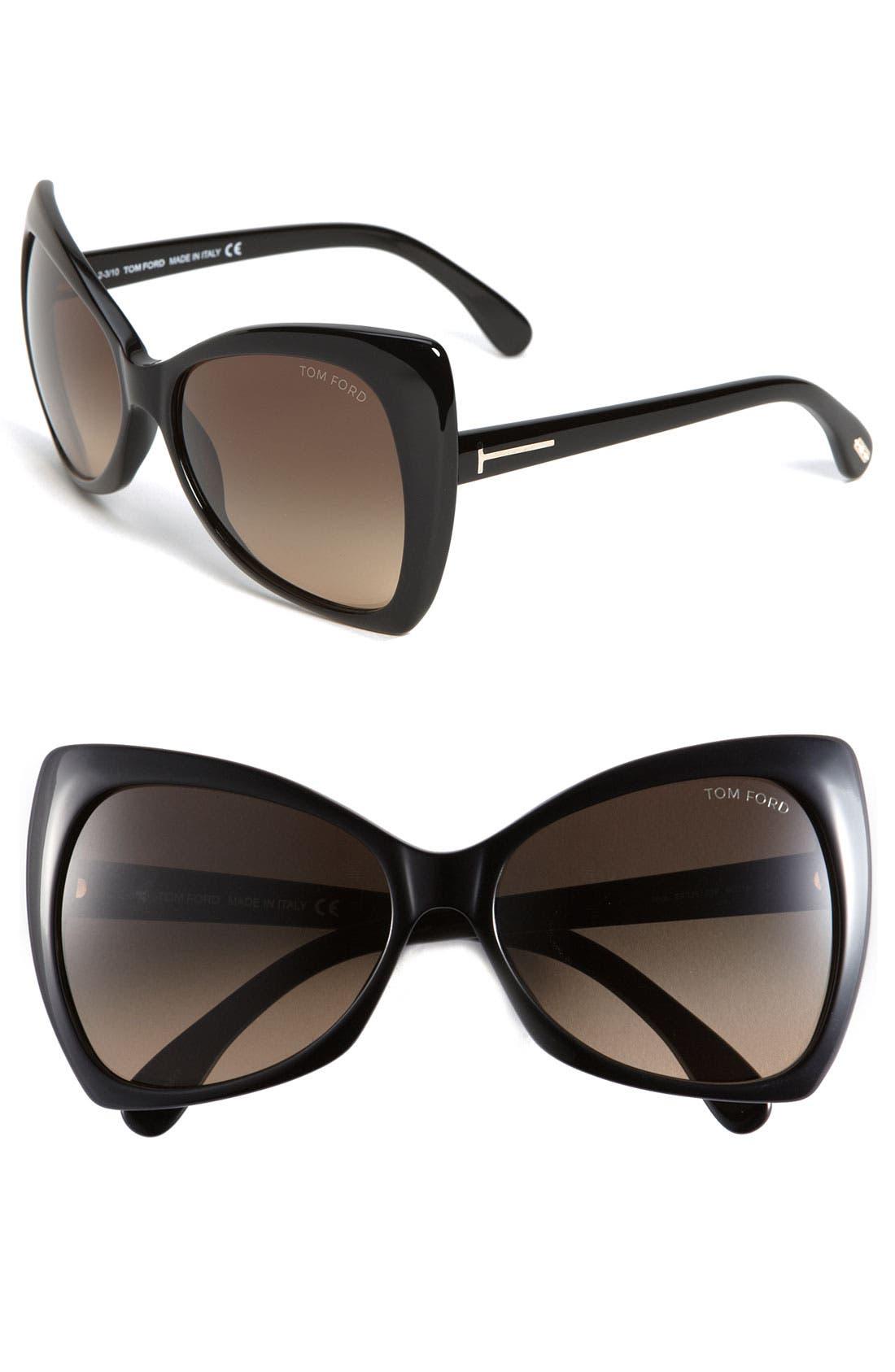 Alternate Image 1 Selected - Tom Ford 'Nico' Retro Inspired Frame Sunglasses