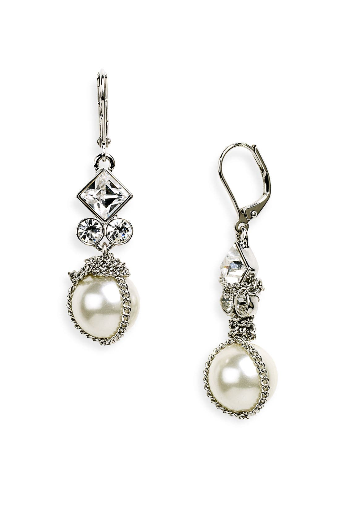 Main Image - Givenchy Small Glass Pearl Earrings