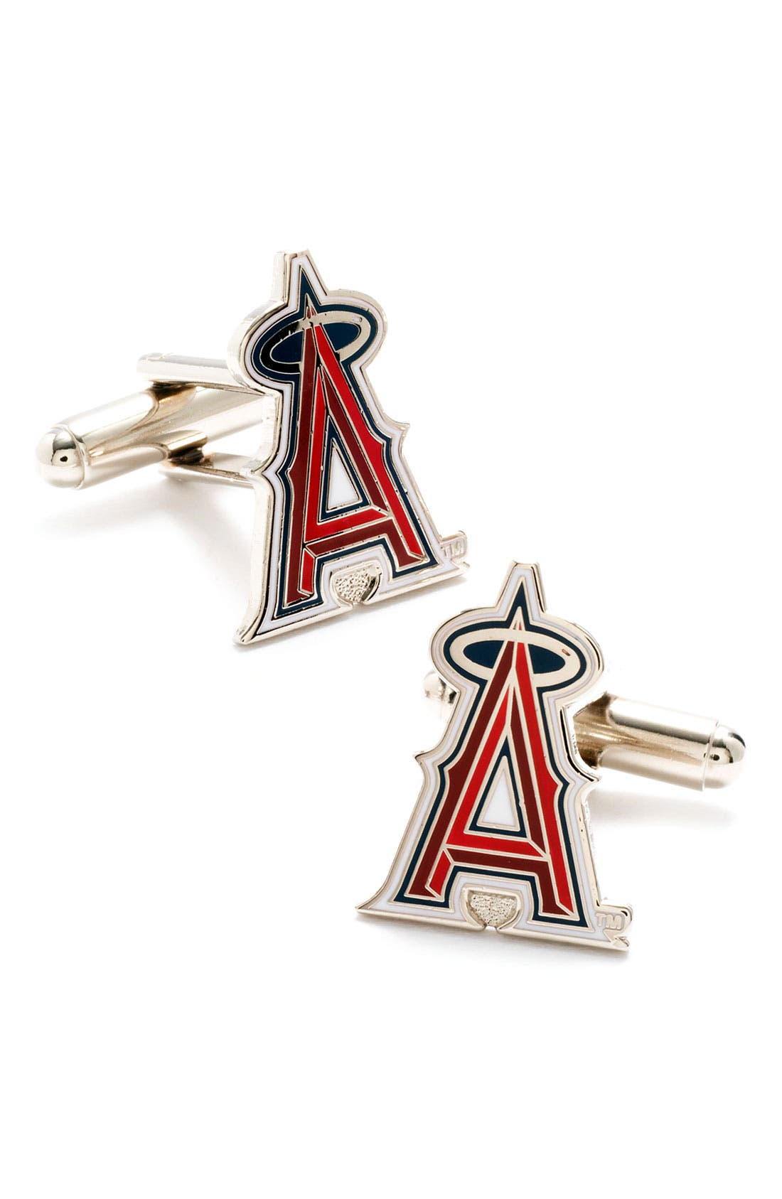 'Los Angeles Angels' Cuff Links,                         Main,                         color, Red/ Black