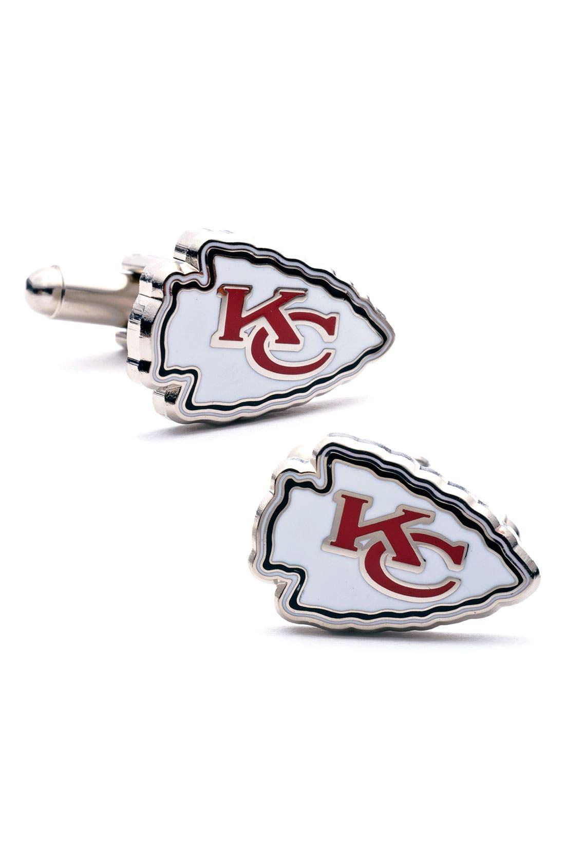Main Image - Cufflinks, Inc. 'Kansas City Chiefs' Cuff Links