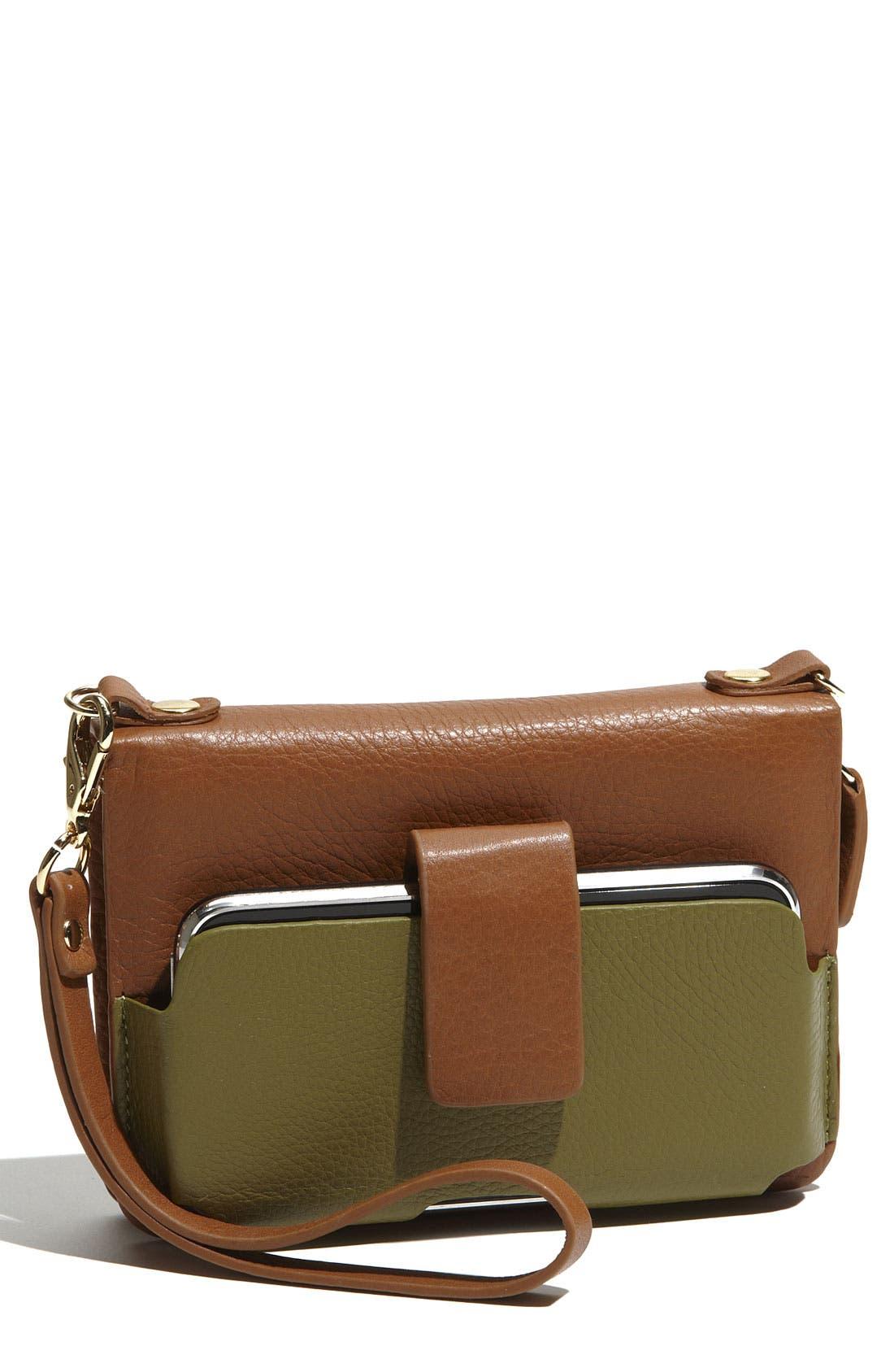 'Kayla' Wristlet & Smartphone Case,                         Main,                         color, Saddle/ Olive
