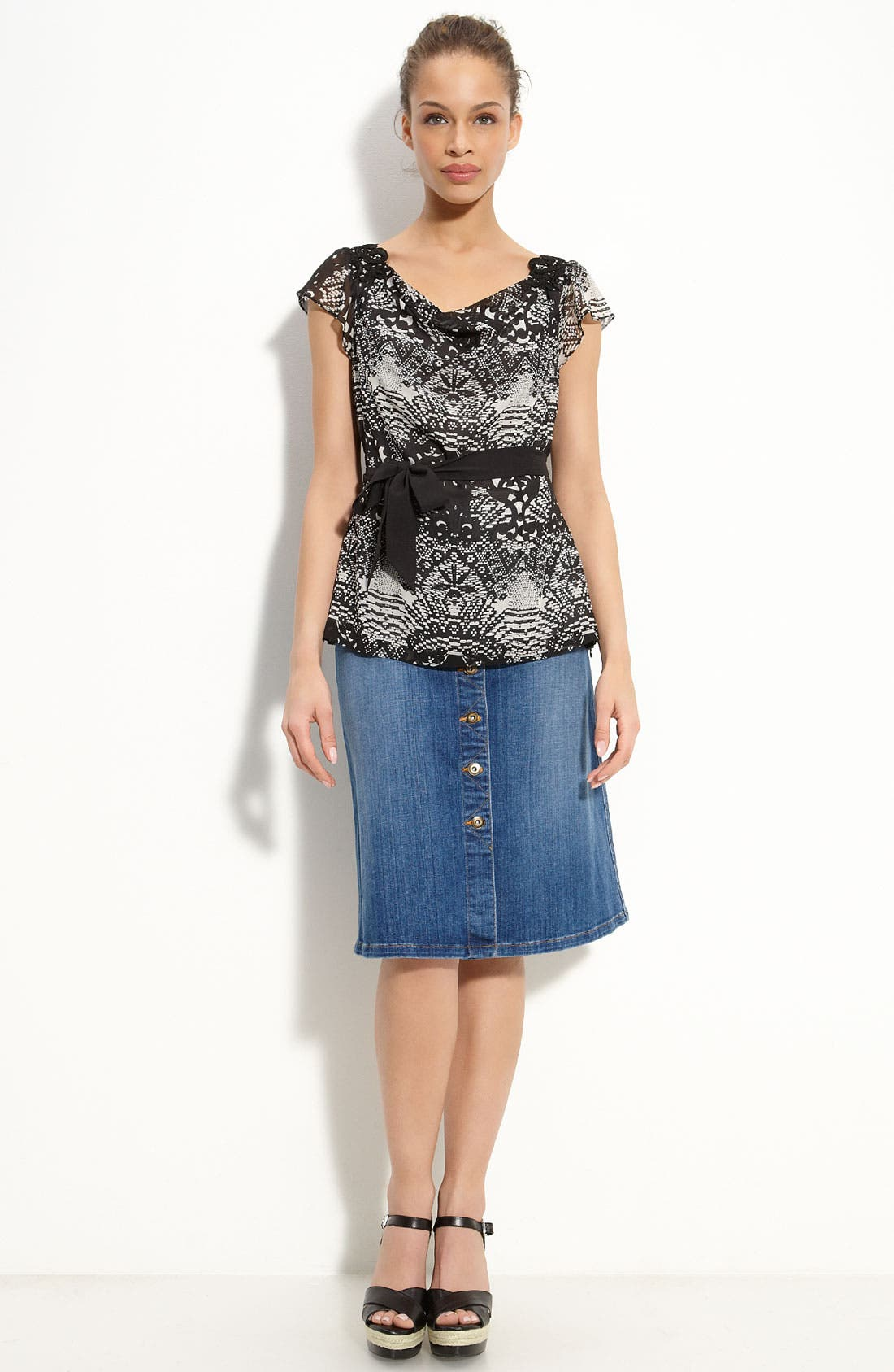 Alternate Image 3  - CJ by Cookie Johnson 'Unity' Skirt (New Vintage Blue Wash)