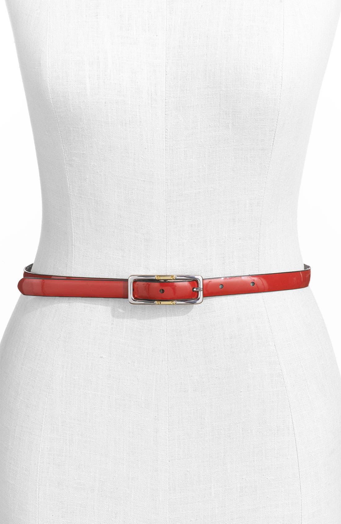 Alternate Image 2  - Lauren Ralph Lauren Croc Embossed Reversible Belt