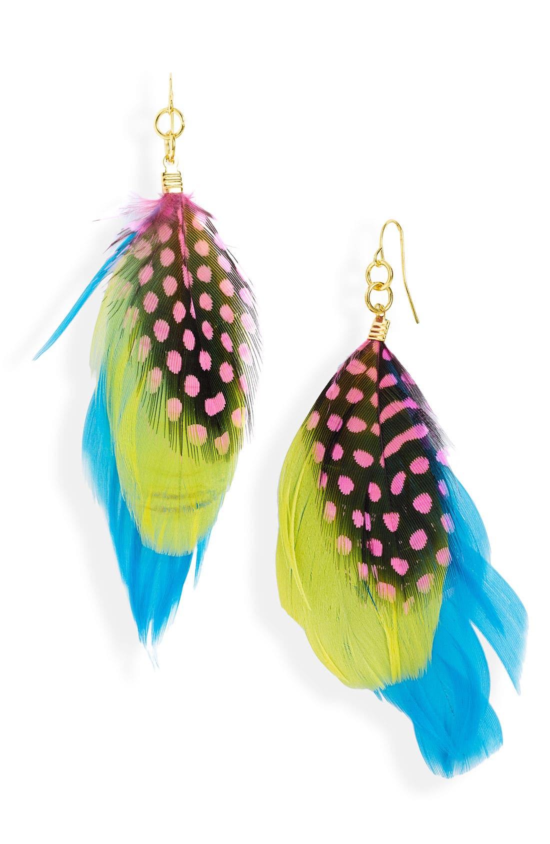 Main Image - Stephan & Co. Feather Earrings