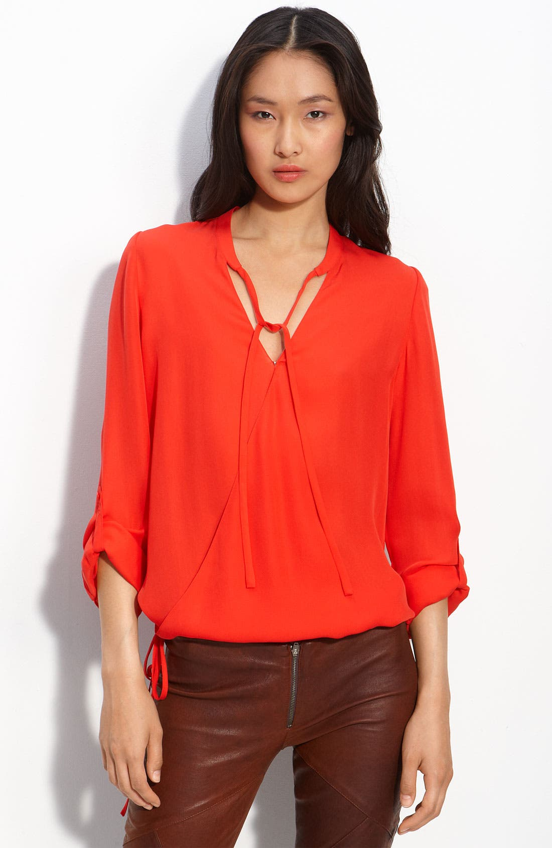 Main Image - Haute Hippie Silk Wrap Blouse