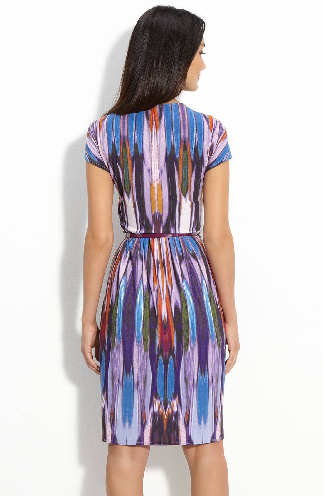 Alternate Image 2  - Donna Morgan Belted Jersey Faux Wrap Dress