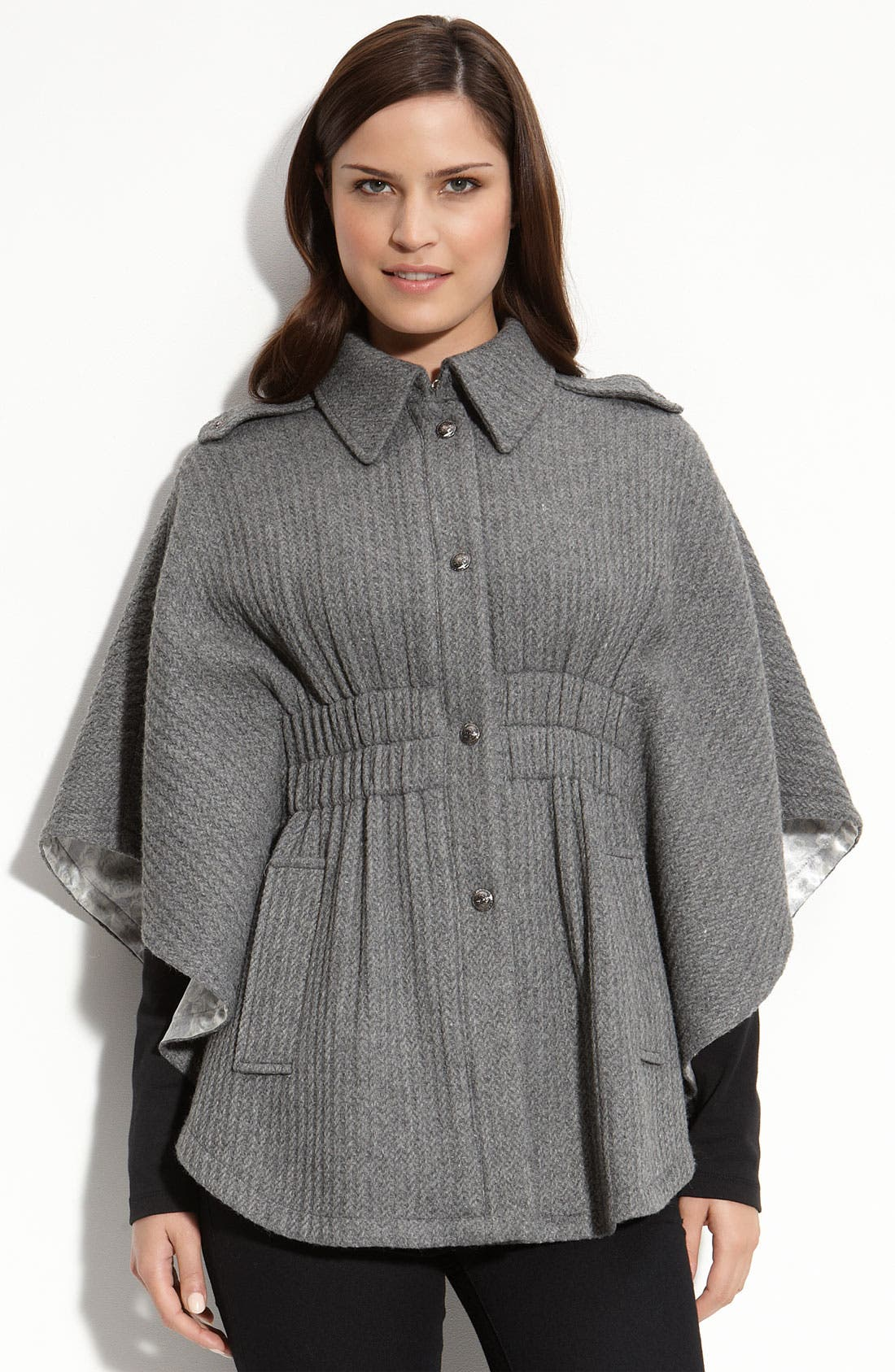 Alternate Image 1 Selected - GUESS Cable Knit Cape
