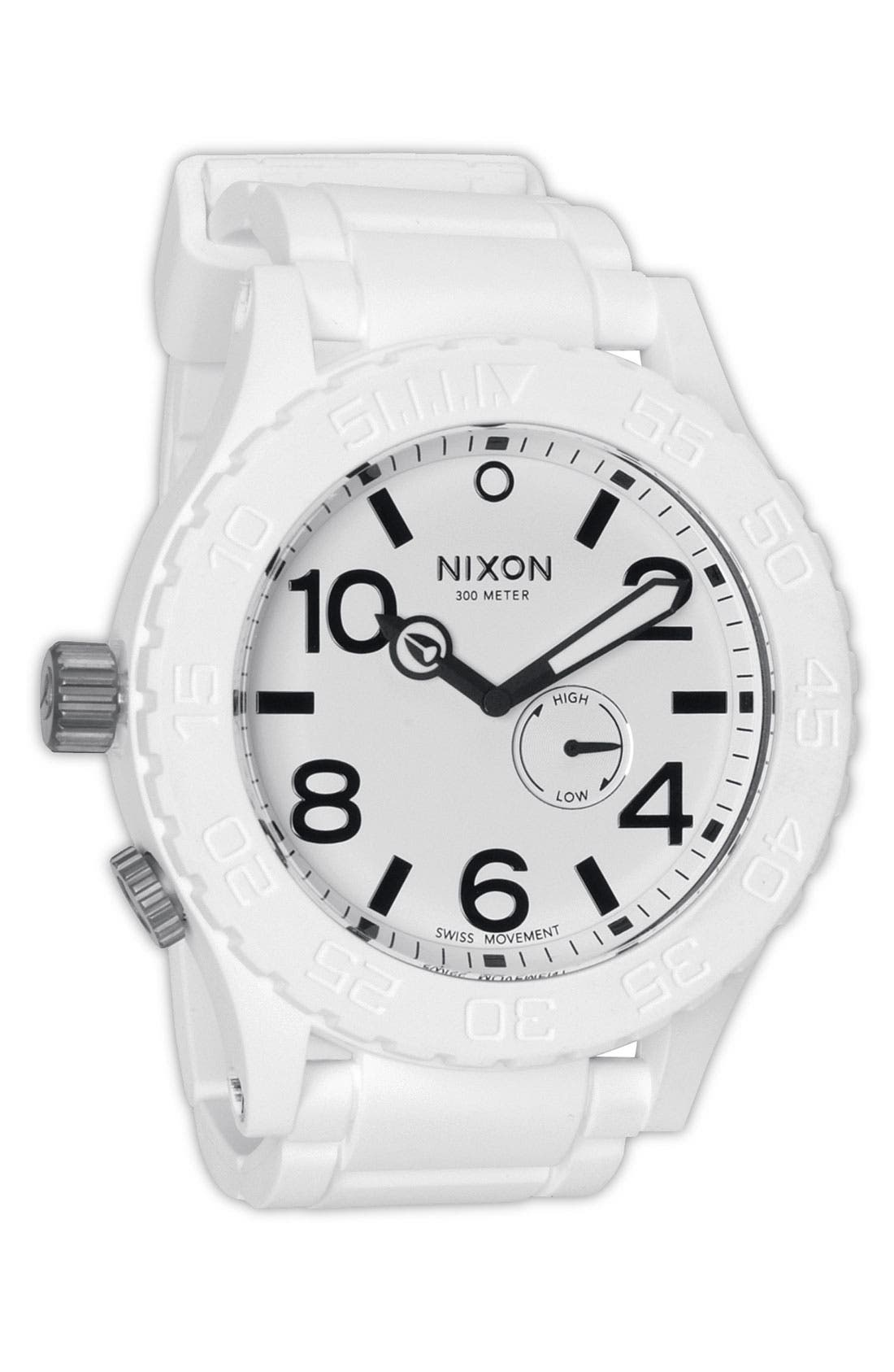 Alternate Image 1 Selected - Nixon 'The 51-30 Rubber' Watch