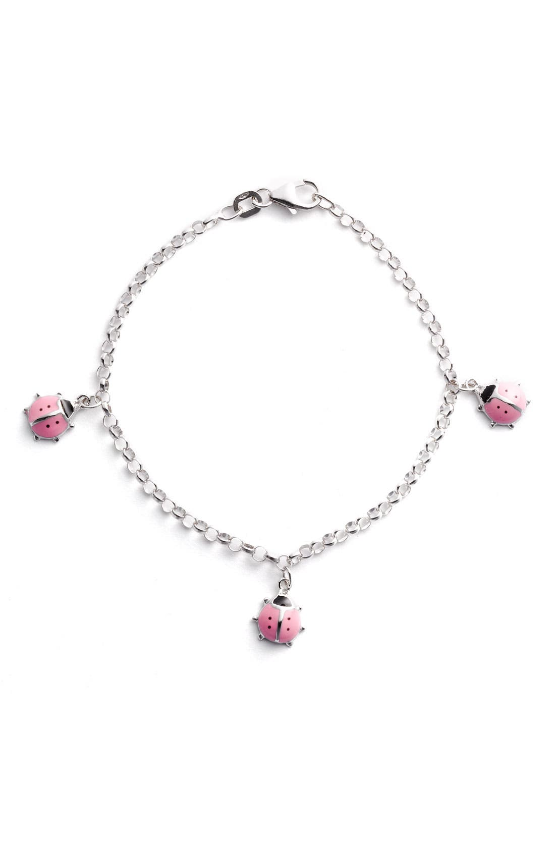 Alternate Image 1 Selected - Marathon Ladybug Charm Bracelet (Infant)