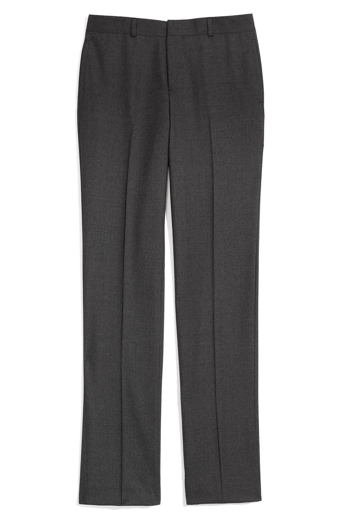 Main Image - Brooks Brothers Flat Front Trousers (Big Boys)