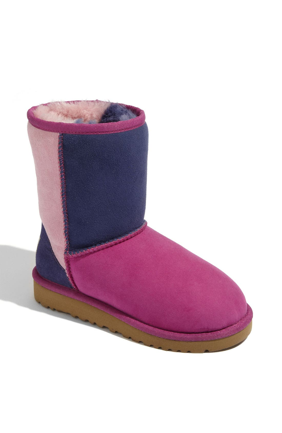 Alternate Image 1 Selected - UGG® 'Classic Short - Patchwork' Boot (Walker)