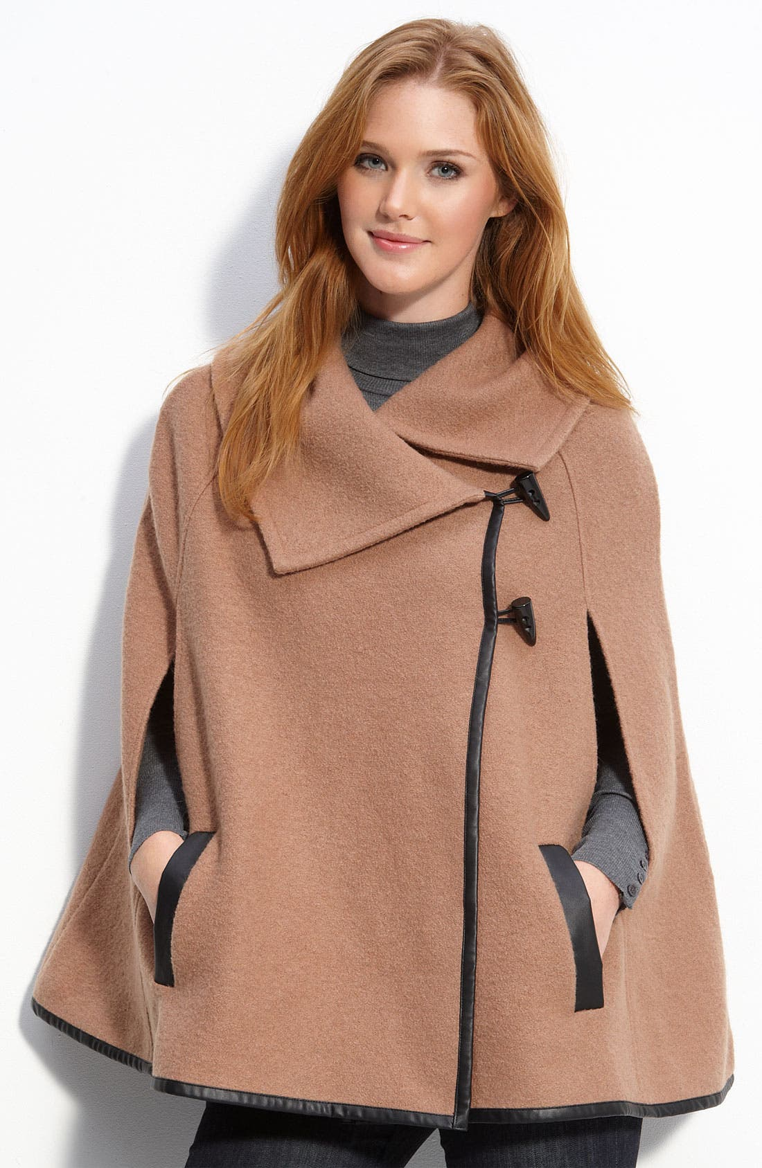 Alternate Image 1 Selected - Caslon® Merino Wool Toggle Cape