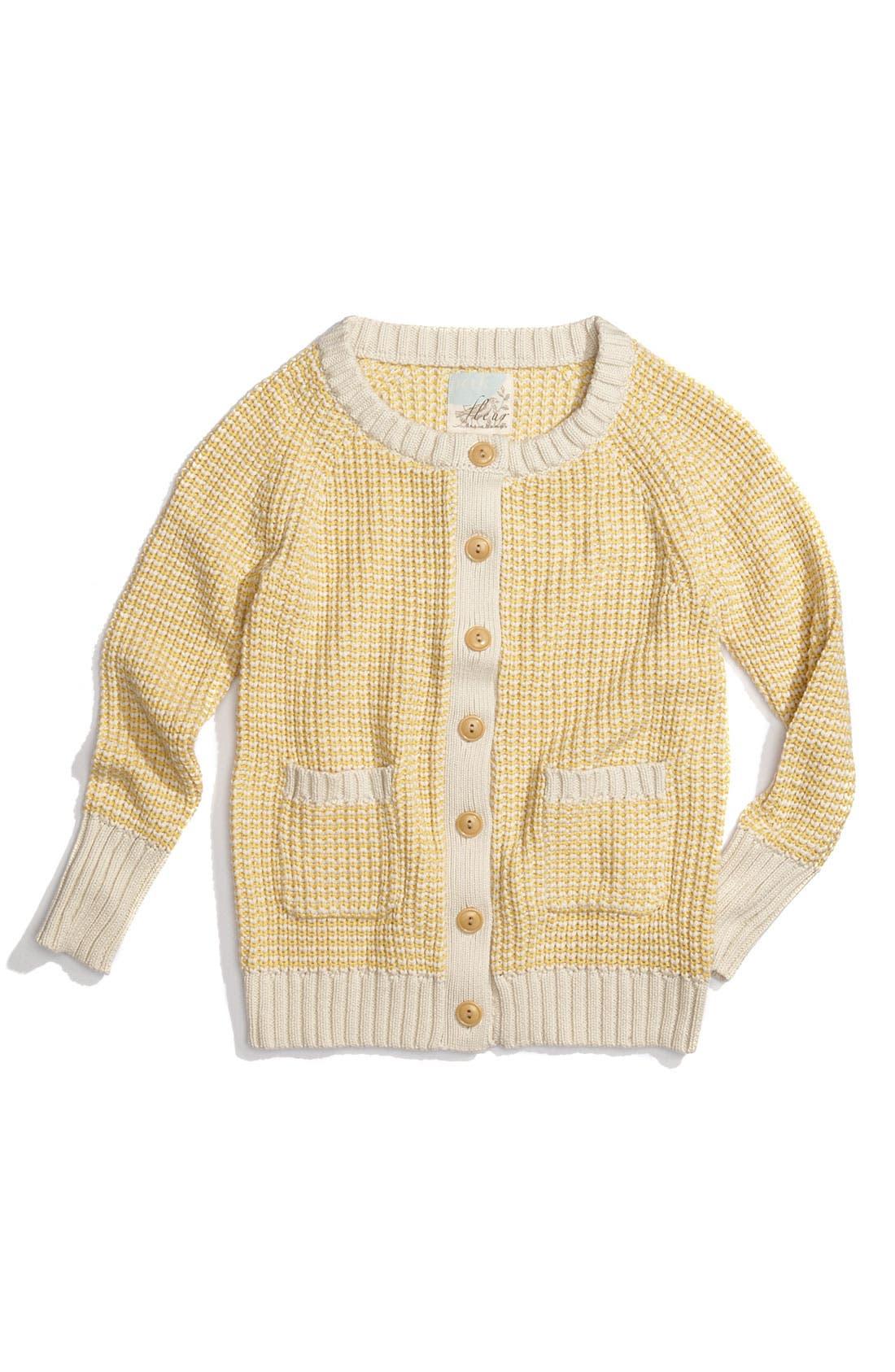 Alternate Image 1 Selected - Peek 2-Tone Knit Cardigan (Toddler, Little Girls & Big Girls)