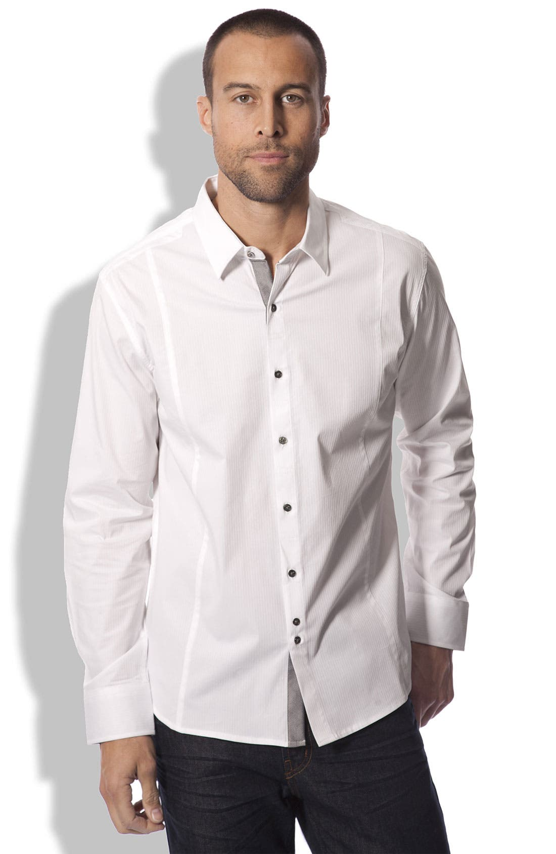 Alternate Image 1 Selected - 7 Diamonds 'Ready to Flow' Trim Fit Shirt