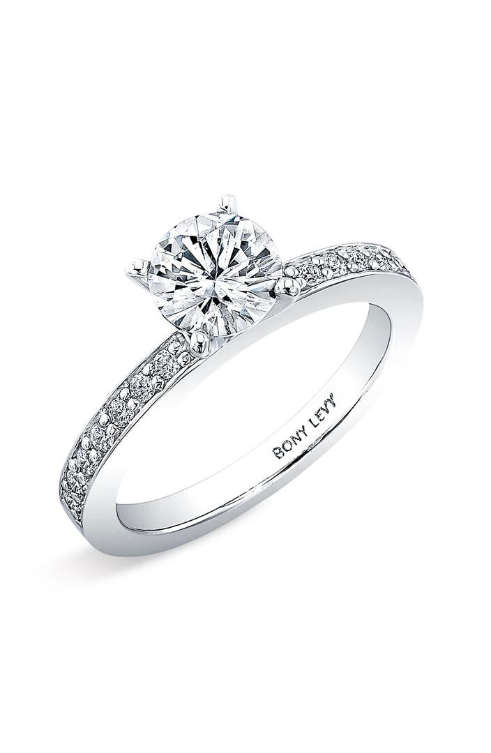 Bony levy channel set diamond engagement ring setting for Nordstrom wedding rings