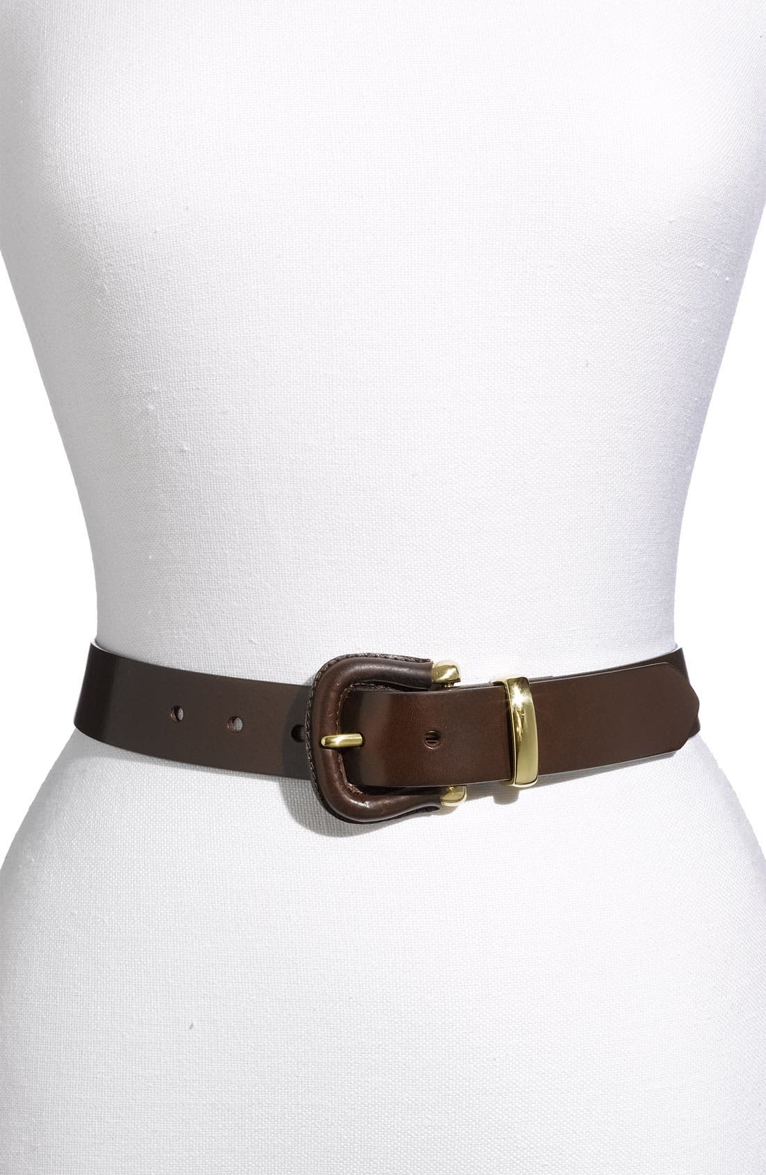 Alternate Image 1 Selected - Halogen® 'Contour' Covered Buckle Belt