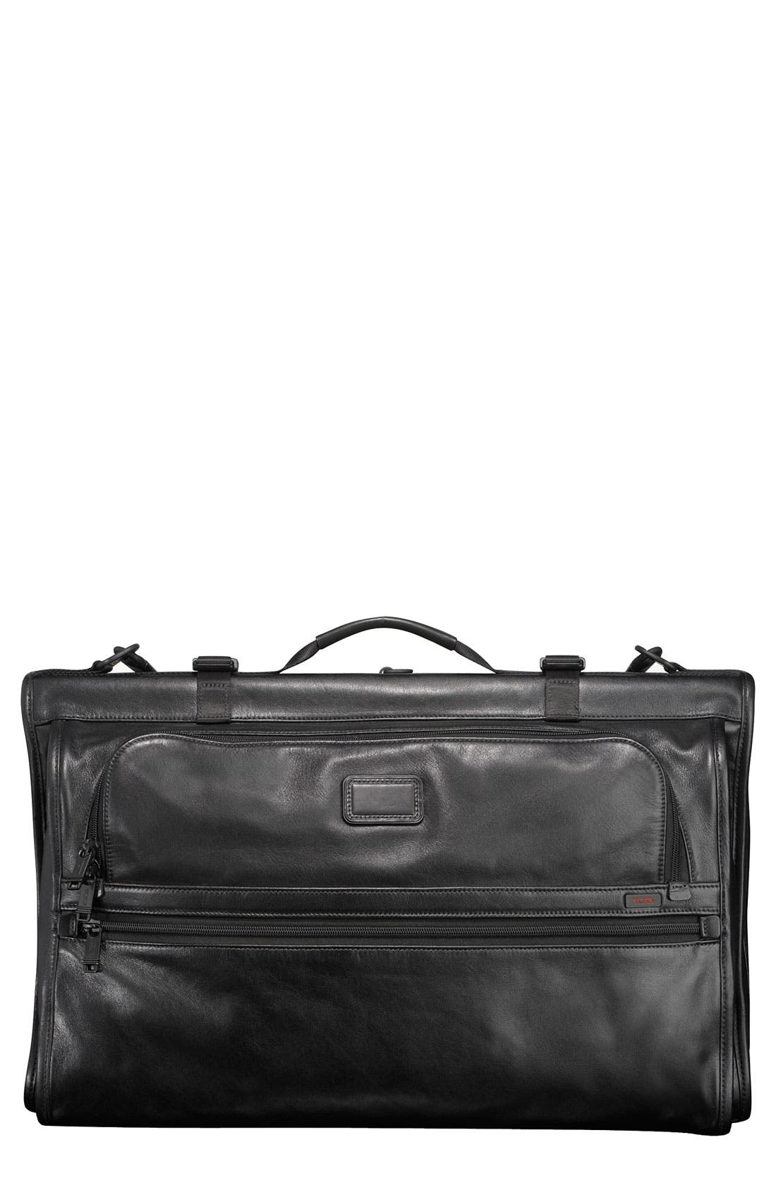 Alternate Image 1 Selected - Tumi Trifold Carry On Leather Garment Carrier