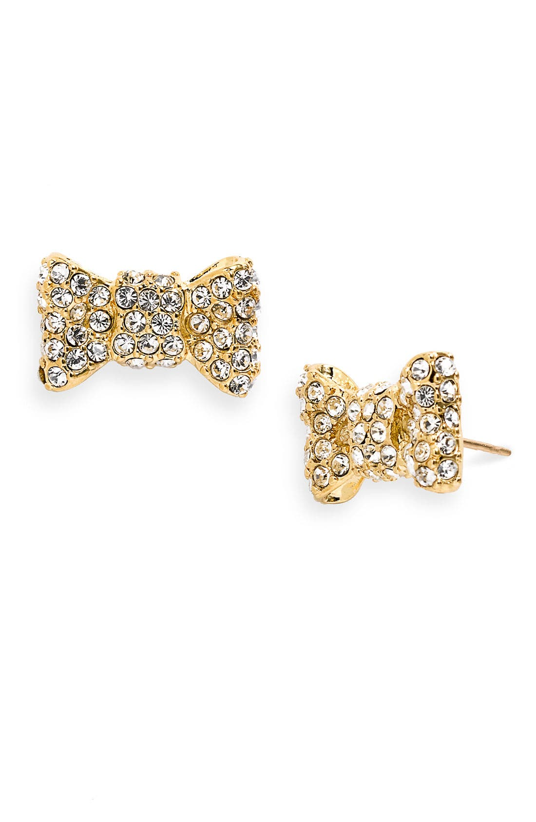 Main Image - kate spade new york 'all wrapped up' pavé bow stud earrings