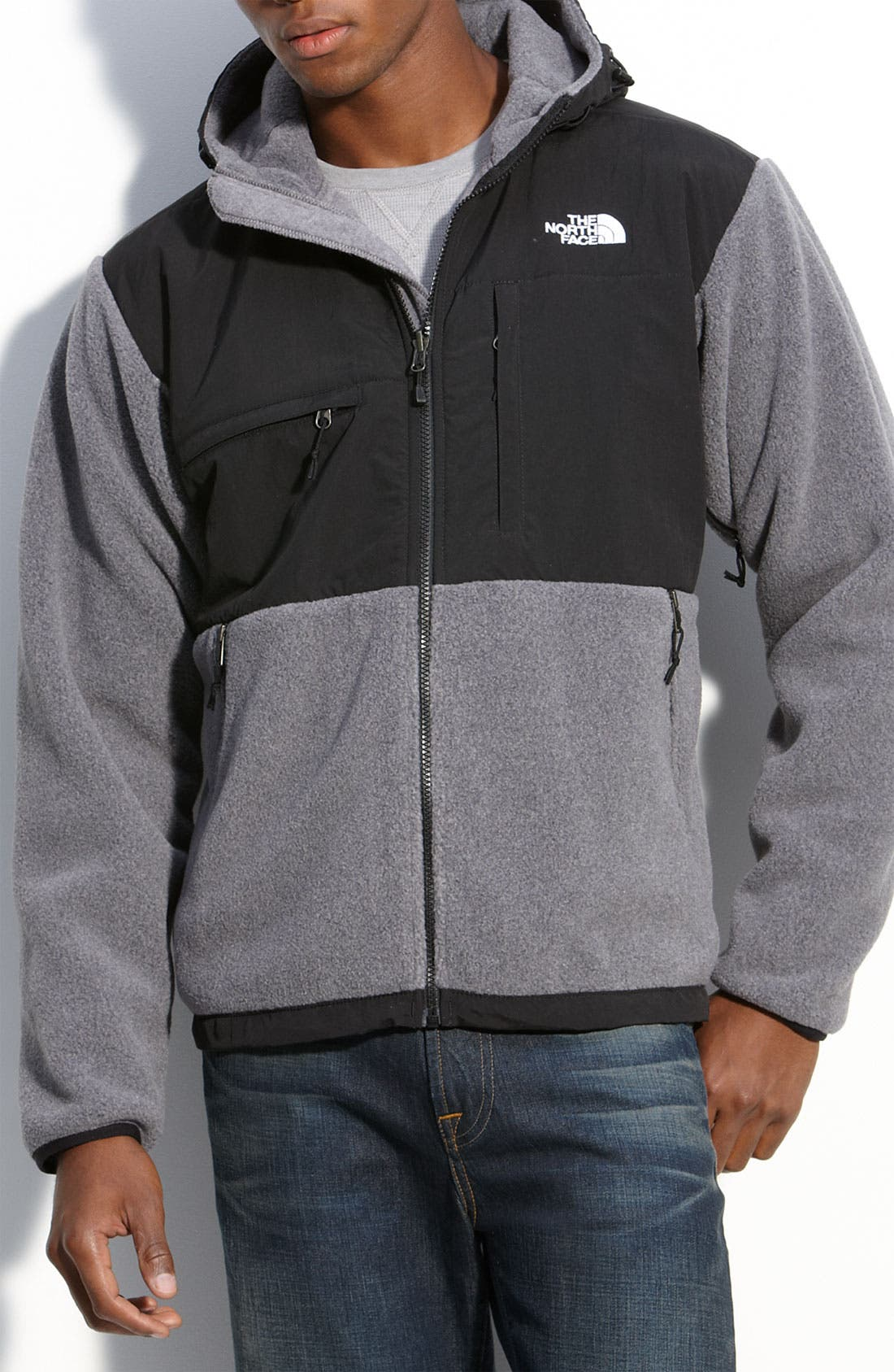 Alternate Image 1 Selected - The North Face 'Denali' Hooded Recycled Fleece Jacket
