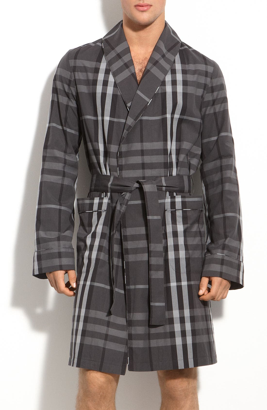 Alternate Image 1 Selected - Burberry Brit Check Print Robe