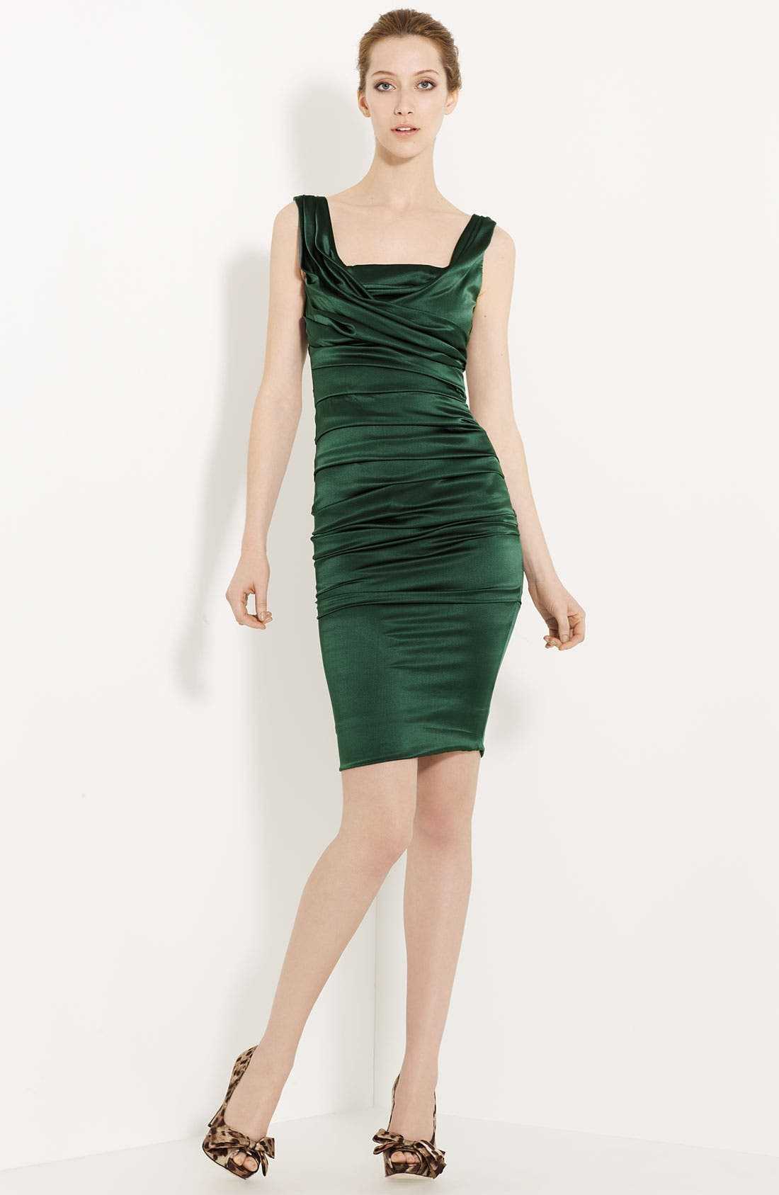 Alternate Image 1 Selected - Dolce&Gabbana Ruched Satin Dress