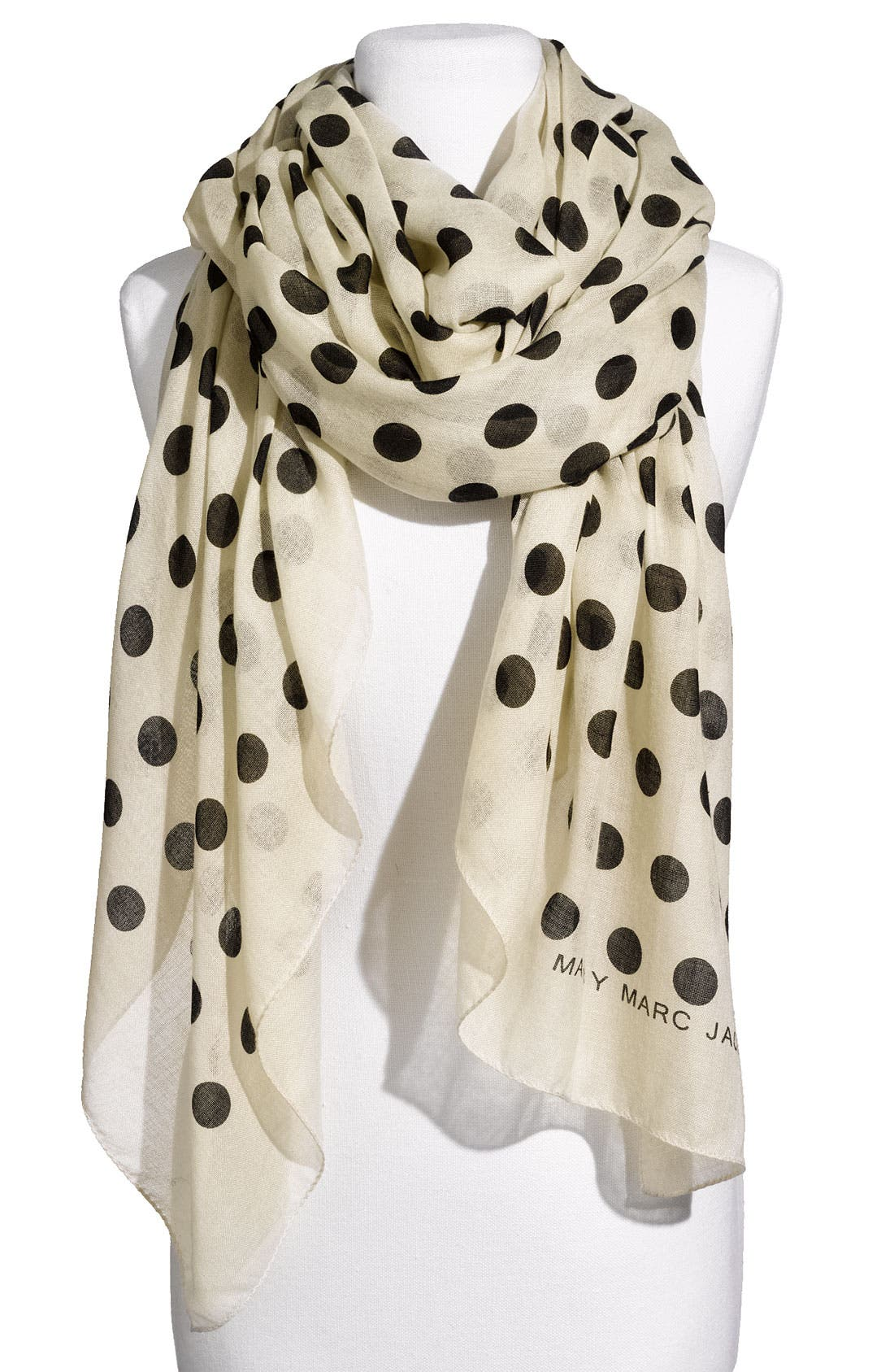 Main Image - MARC BY MARC JACOBS 'Hot Dot' Cashmere & Silk Scarf