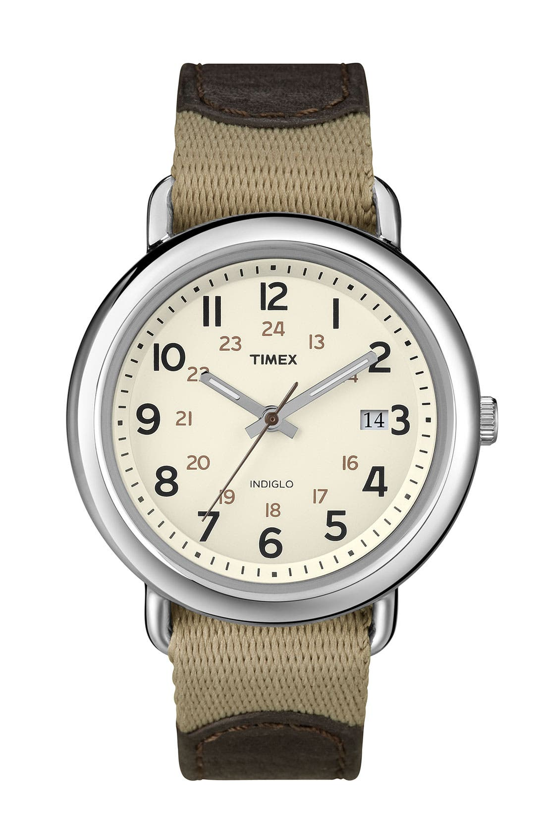 Main Image - Timex® 'Camper' Nylon & Leather Strap Watch
