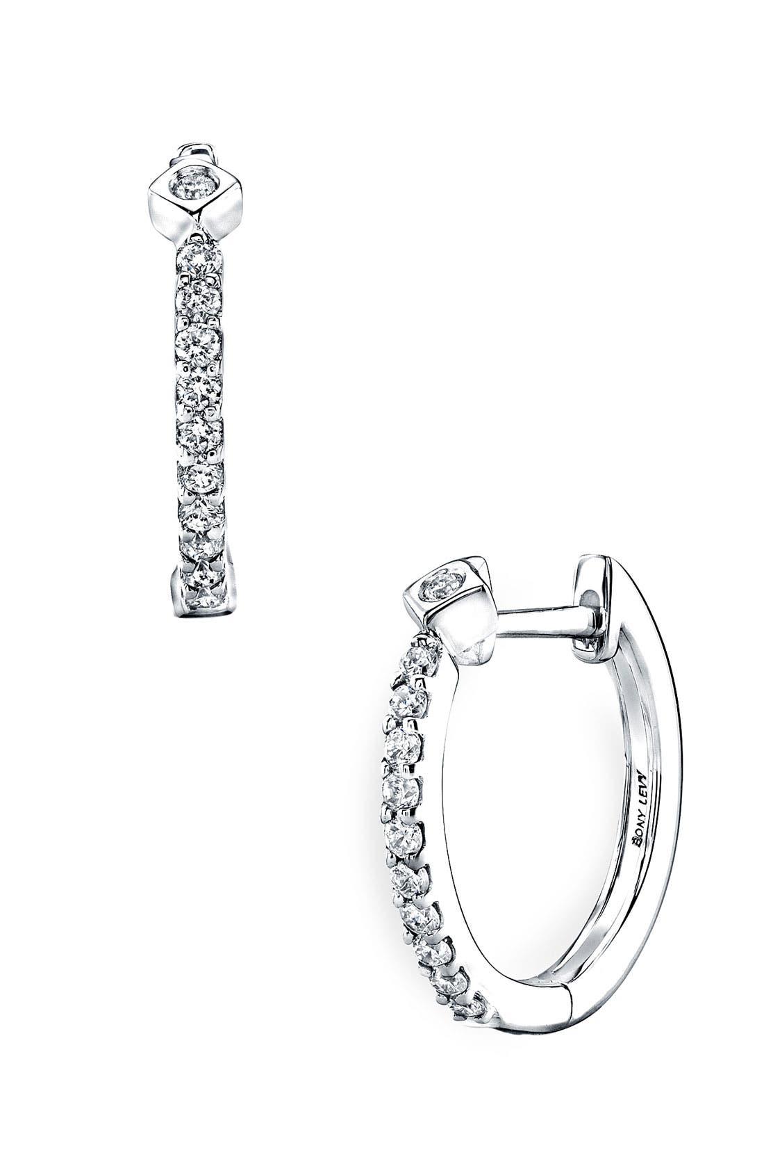 Main Image - Bony Levy Diamond Hoop Earrings (Nordstrom Exclusive)