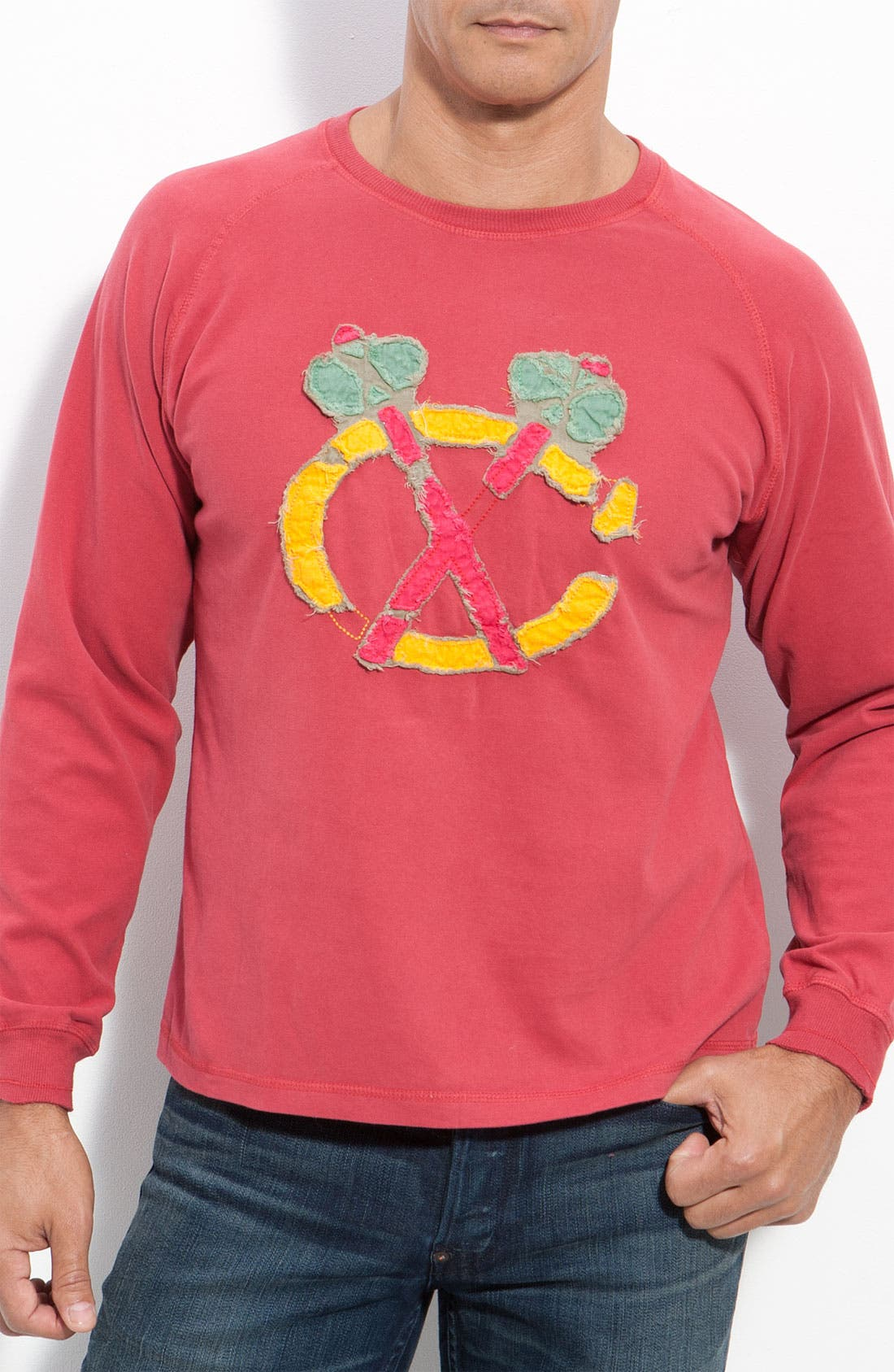 Alternate Image 1 Selected - Red Jacket 'Saga - Blackhawks' Jersey T-Shirt