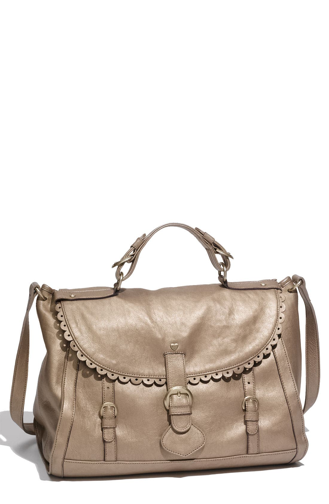Alternate Image 1 Selected - See By Chloé 'Poya Vintage - Large' Metallic Leather Satchel