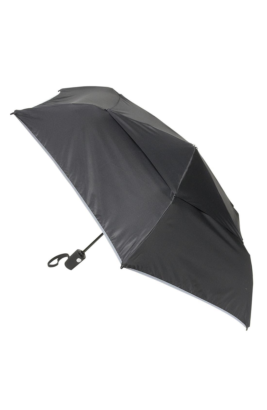 Medium Auto Close Umbrella - Black