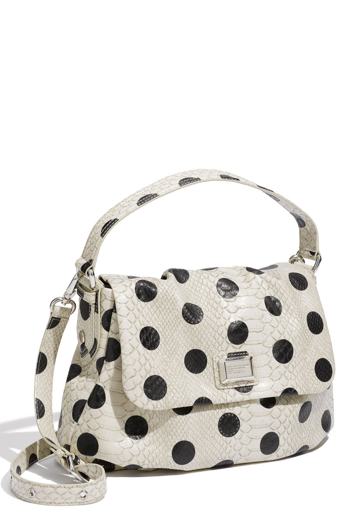 MARC BY MARC JACOBS 'Dotty Snake Little Ukita' Faux Leather Crossbody Bag,                         Main,                         color, Linen Dot Multi