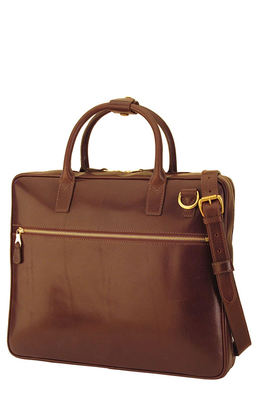 Alternate Image 1 Selected - Mulholland 'Slim' Leather Laptop Bag (17 Inch)
