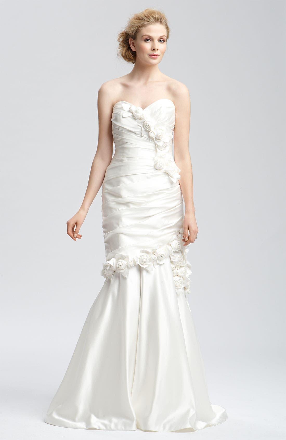 Alternate Image 1 Selected - Faviana 'Eva' Convertible Satin Gown