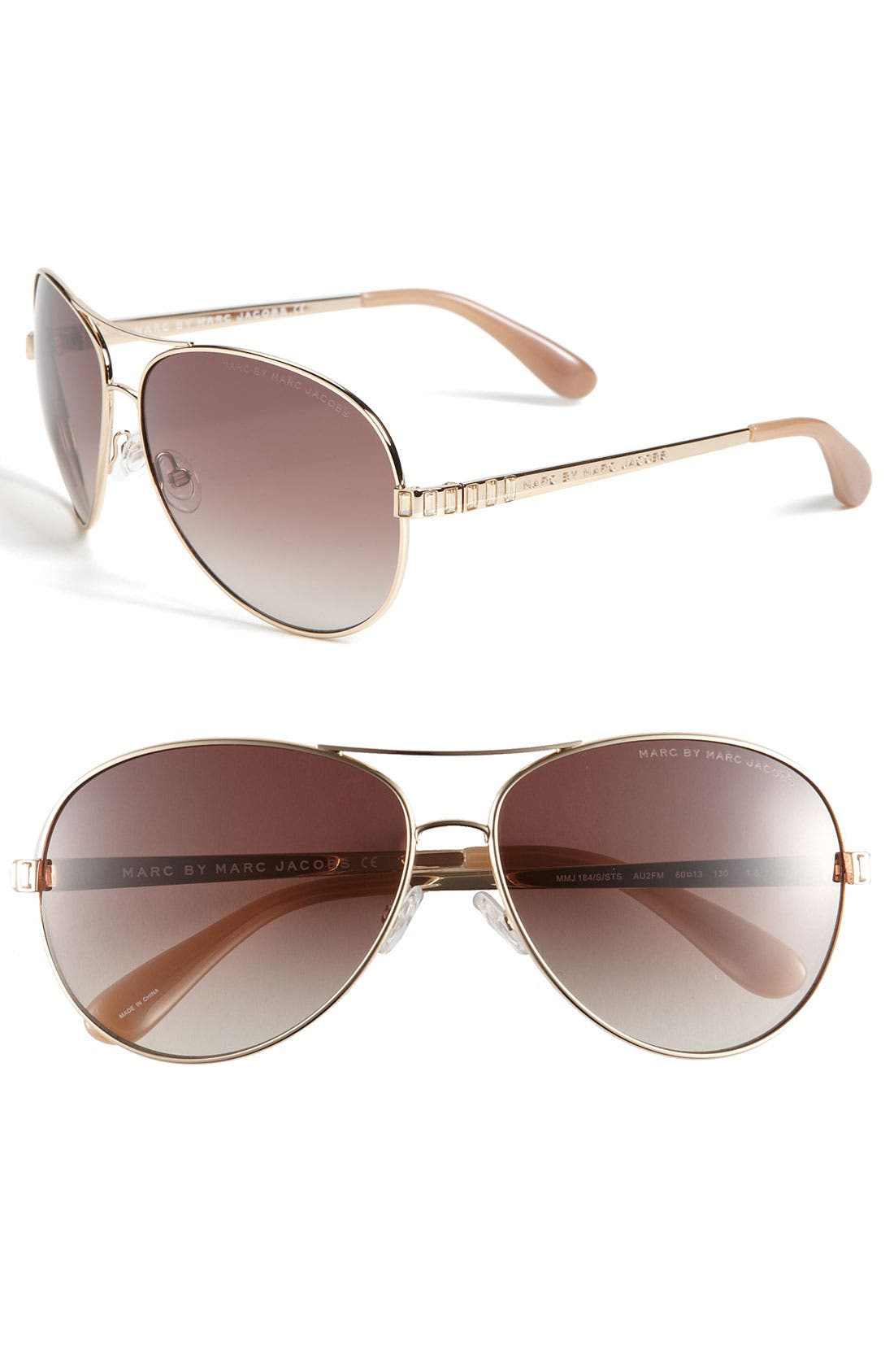 Alternate Image 1 Selected - MARC BY MARC JACOBS 60mm Aviator Sunglasses