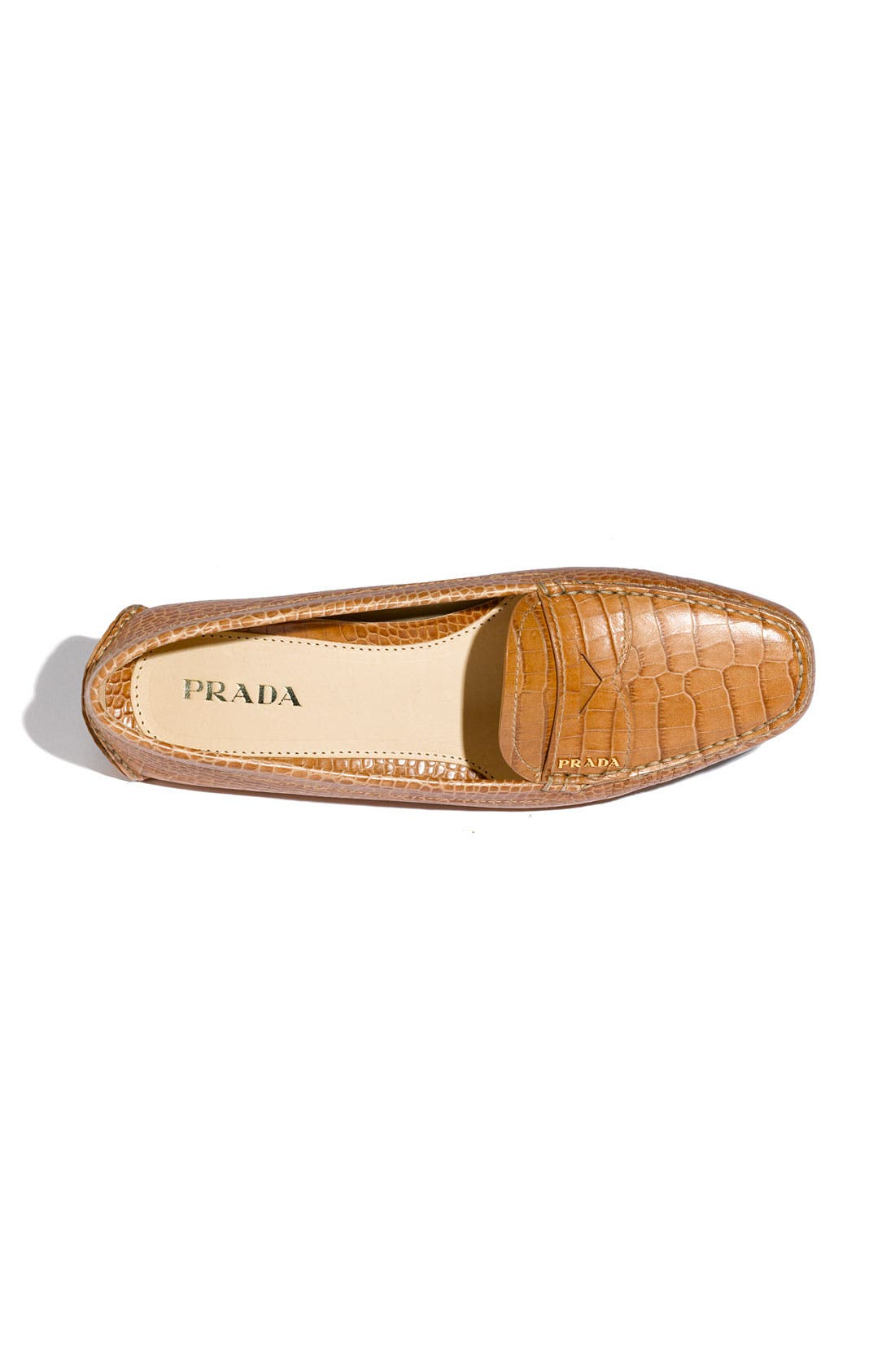 Alternate Image 3  - Prada Snake Stamped Leather Driving Moccasin