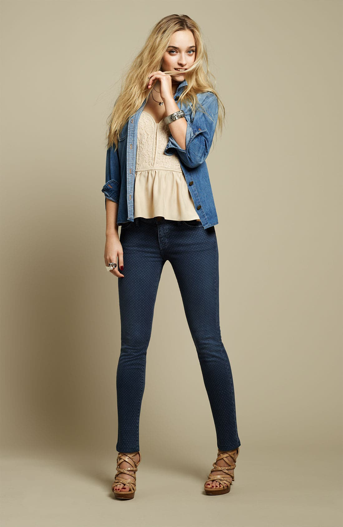 Alternate Image 5  - Current/Elliott 'The Stiletto' Stretch Jeans (Lake Wash)