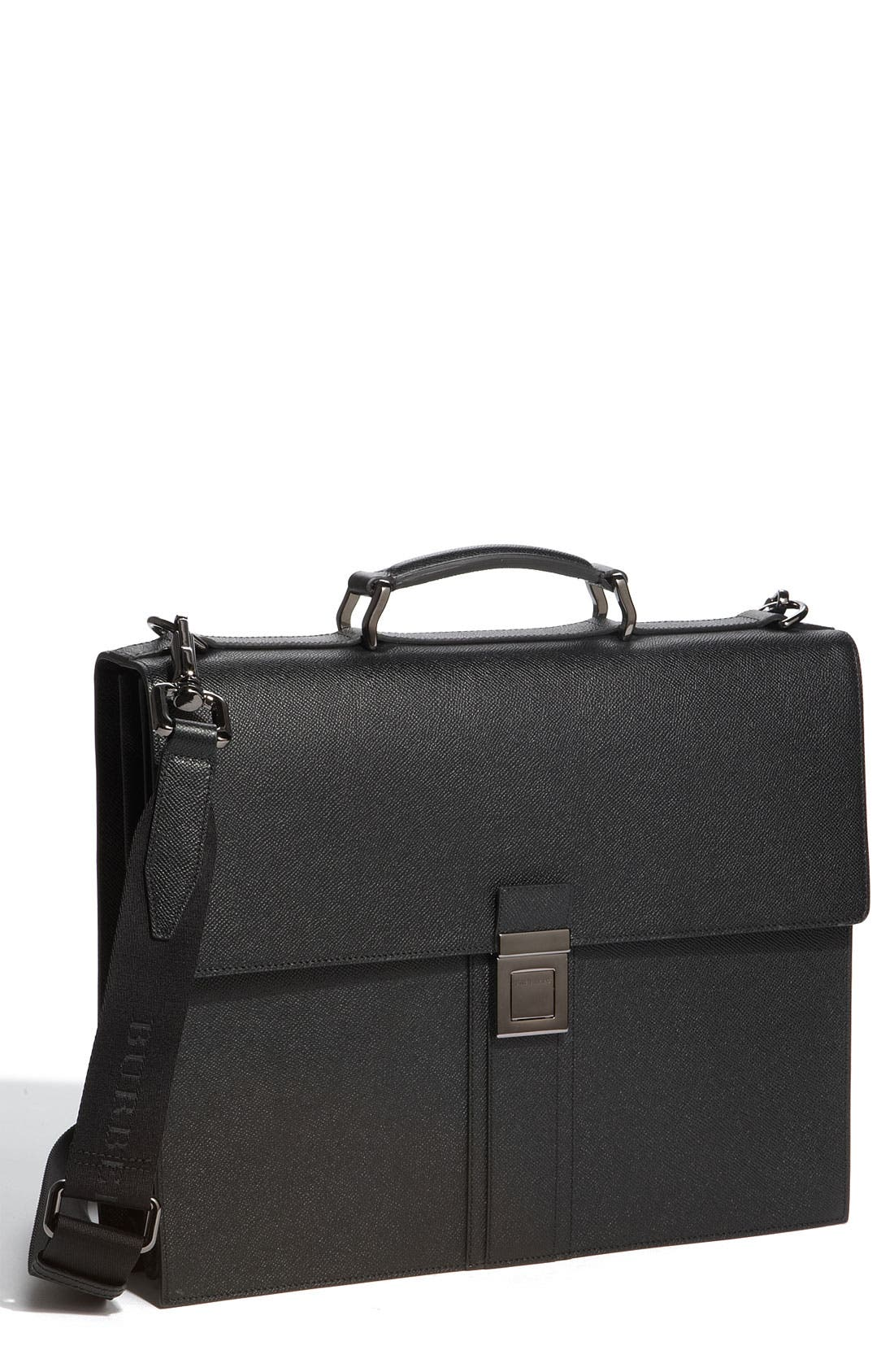 Main Image - Burberry Leather Accordion Briefcase