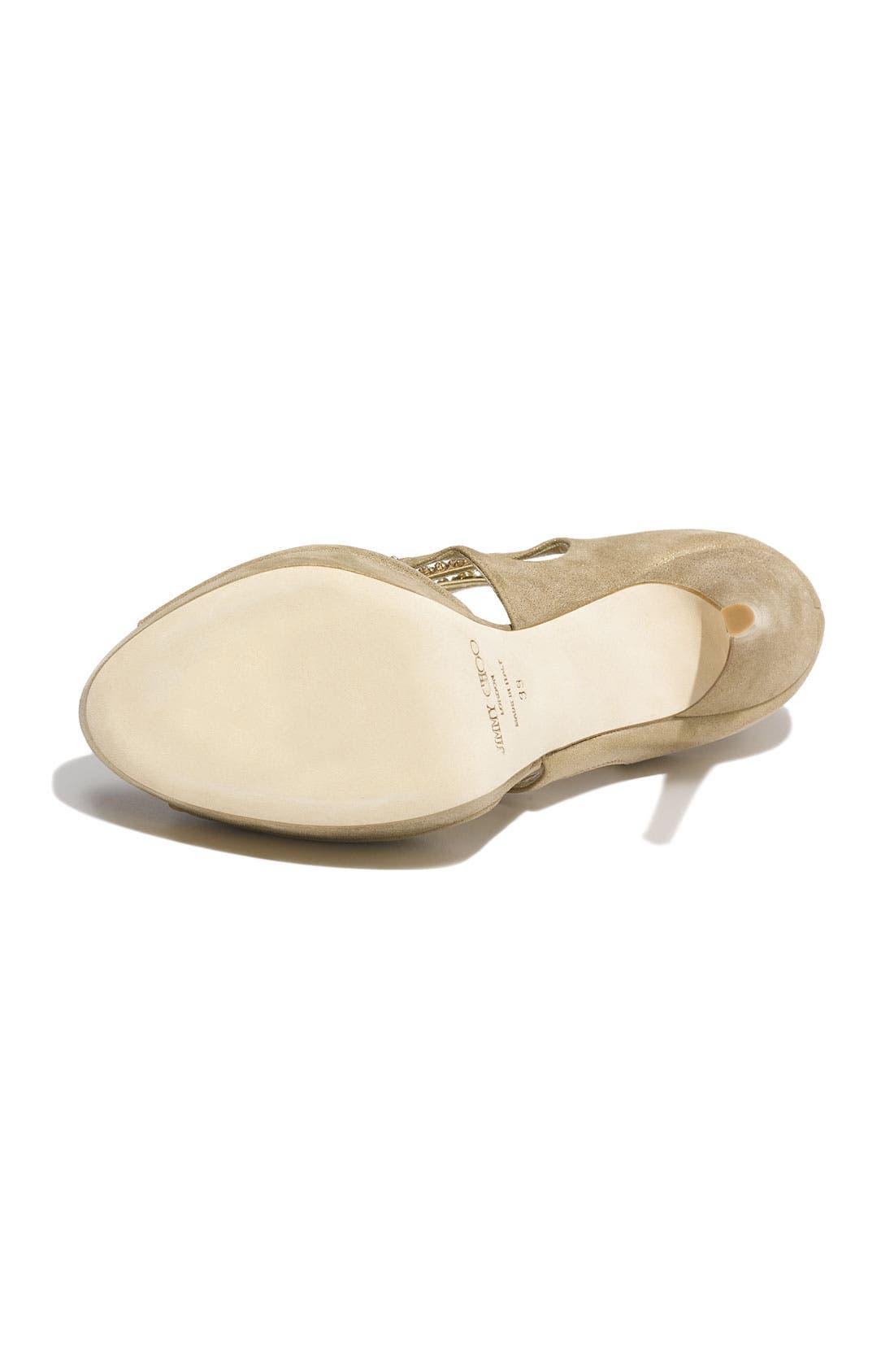 Alternate Image 4  - Jimmy Choo 'Teal Tawny' Jeweled Sandal